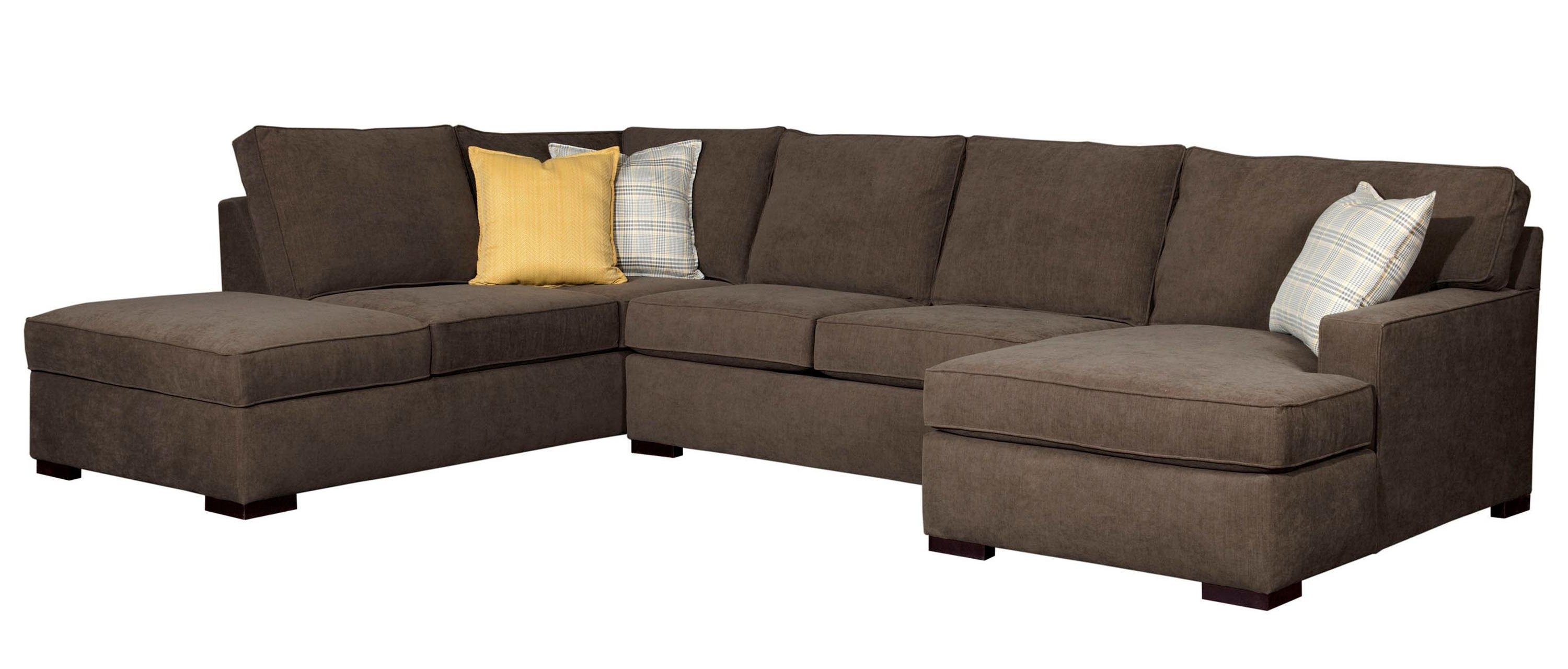 Sam Levitz Sectional Sofas With Well Known Broyhill Furniture Raphael Contemporary Sectional Sofa With Laf (View 3 of 20)