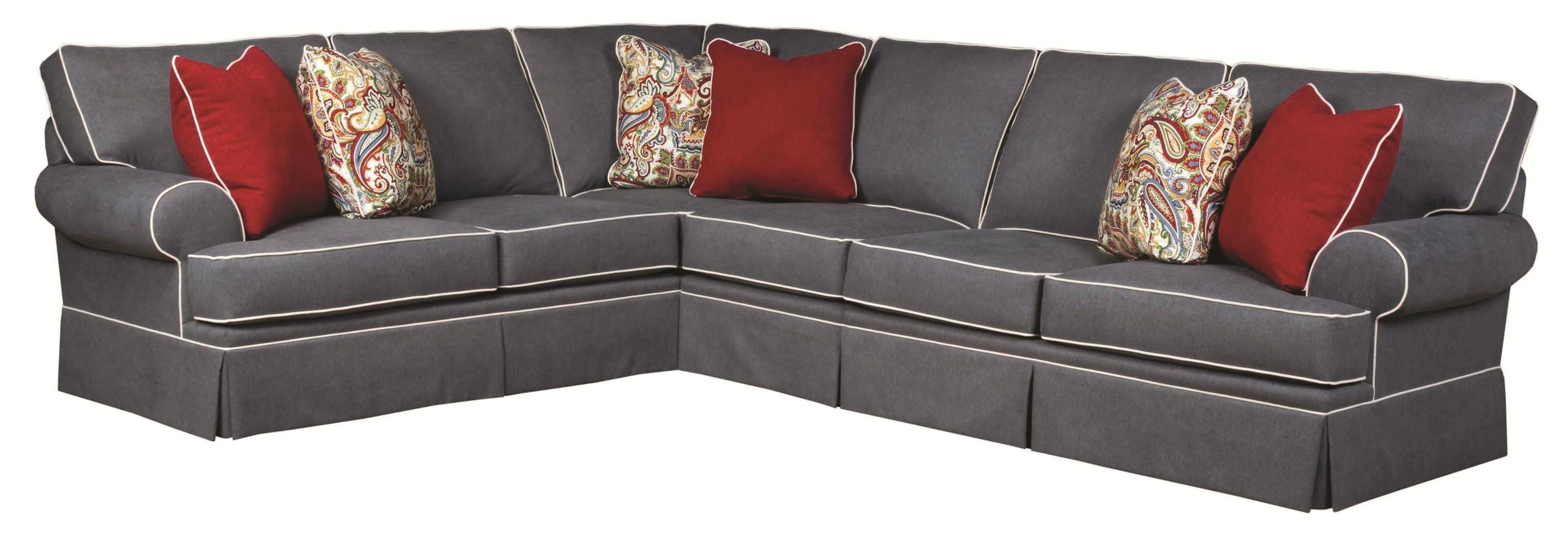 Sam Levitz Sectional Sofas Within Current Broyhill Furniture Emily Traditional 3 Piece Sectional Sofa With (View 7 of 20)