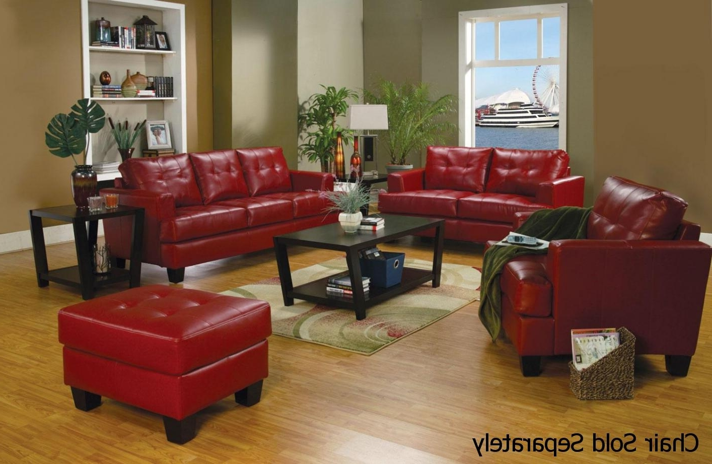 Samuel Red Leather Sofa And Loveseat Set – Steal A Sofa Furniture Within Preferred Red And Black Sofas (View 17 of 20)