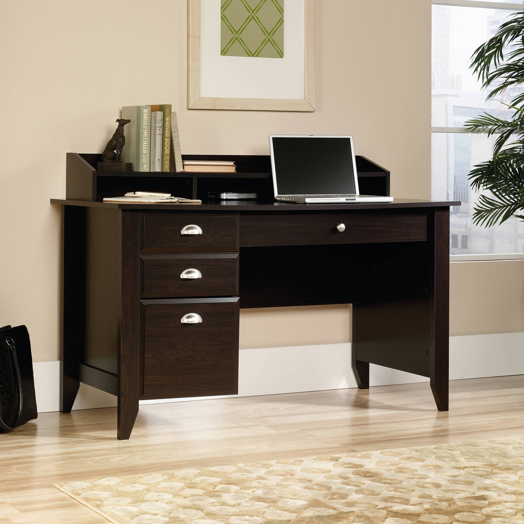 Sauder Carson Forge Corner Computer Desk – Cherry – Walmart Regarding Famous Computer Desks At Walmart (View 18 of 20)