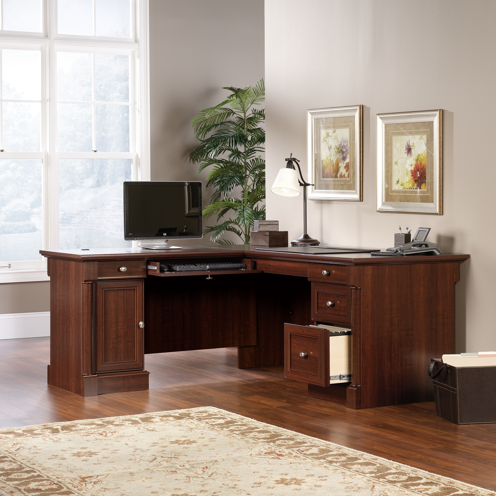 Sauder Intended For L Shaped Computer Desks (View 17 of 20)