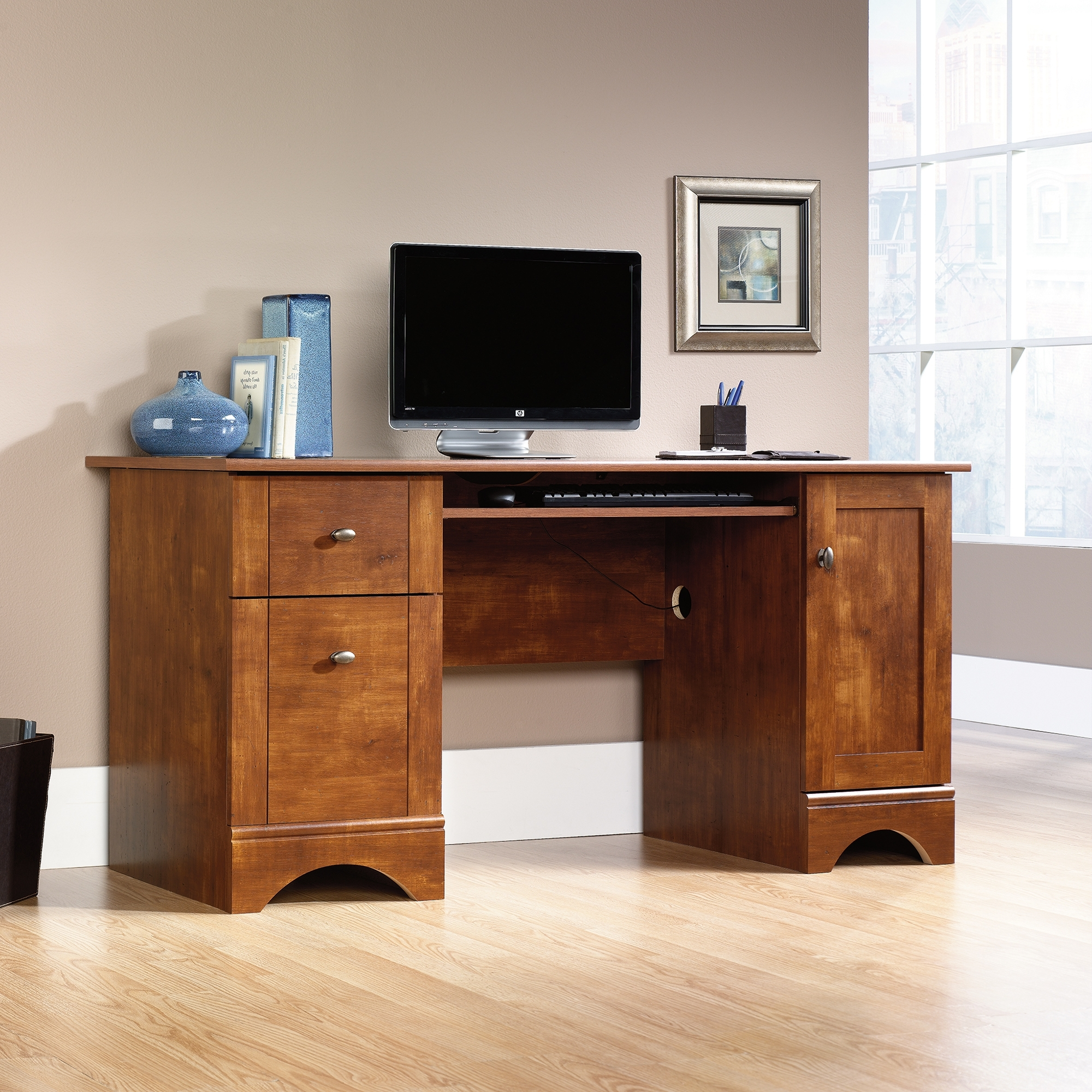 Sauder Select Computer Desk (402375) – Sauder Pertaining To Most Current Enclosed Computer Desks (View 18 of 20)