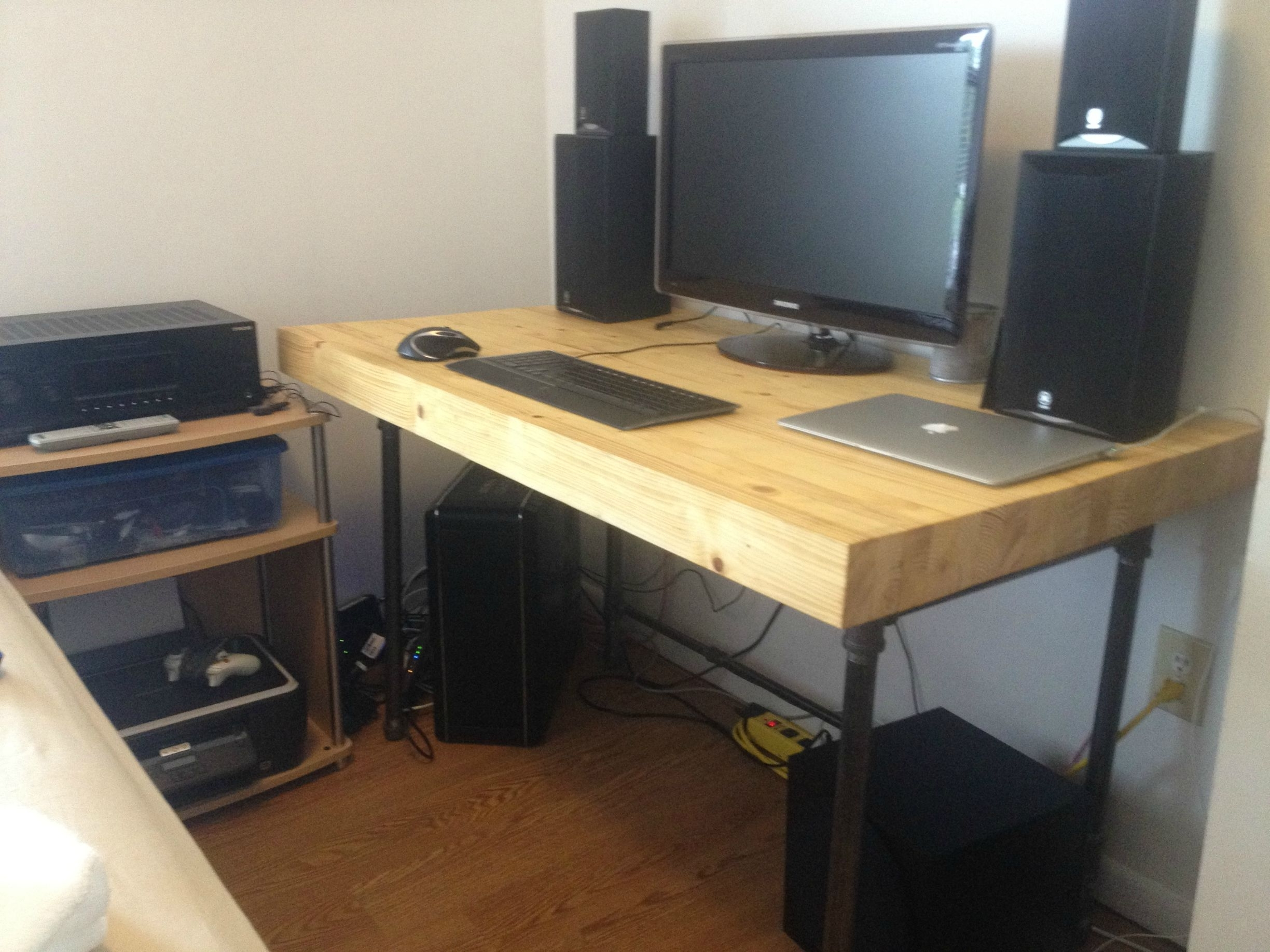 Saving Small Spaces With Custom Diy Butcher Block Computer Desk Intended For Current Diy Computer Desks (View 19 of 20)