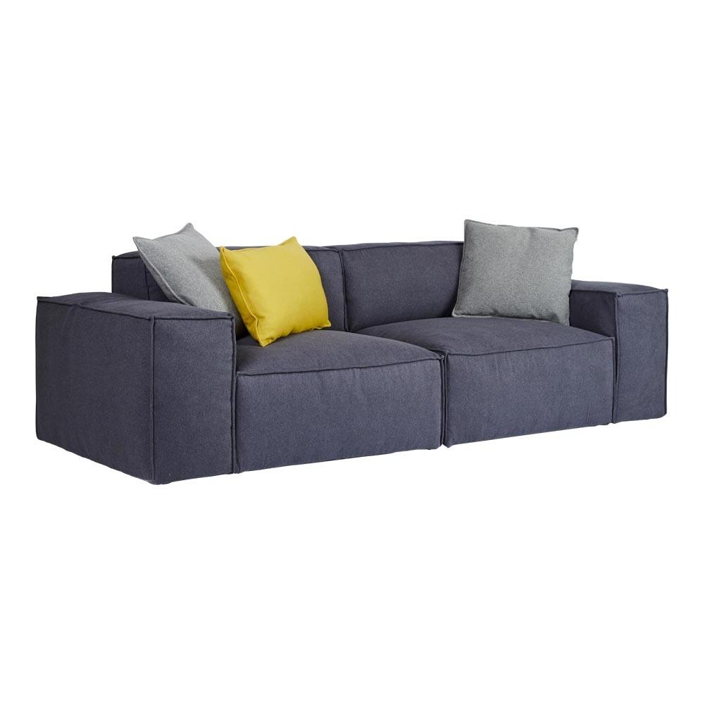 Scandinavian Mila Blue Sofa – 2 4 Seater Lounge With Regard To Latest 4 Seat Sofas (View 19 of 20)