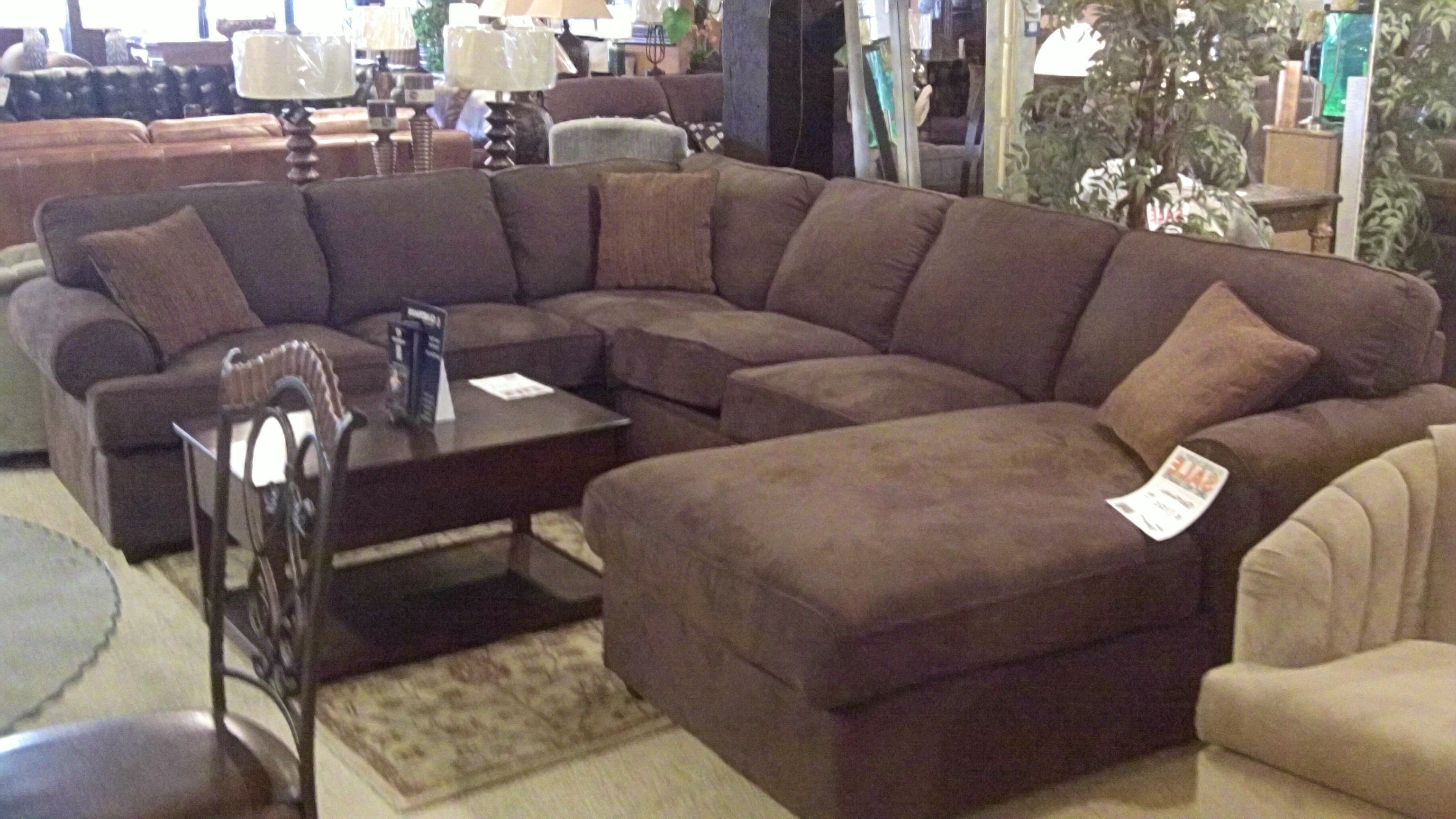 Sectional Couches With Large Ottoman Throughout 2018 Home Design : Cool Best Modern Fabric Sectional Sofas With Chaise (View 16 of 20)