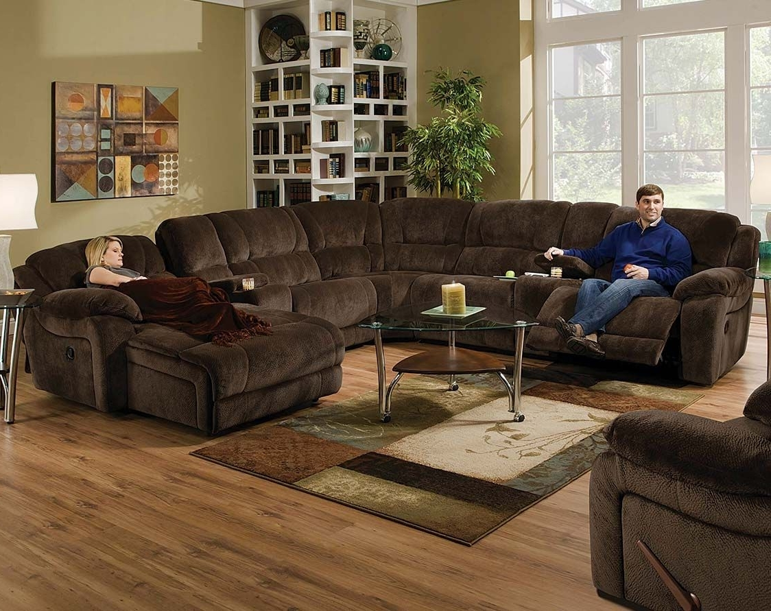 Sectional Inside Most Popular Jedd Fabric Reclining Sectional Sofas (View 13 of 20)