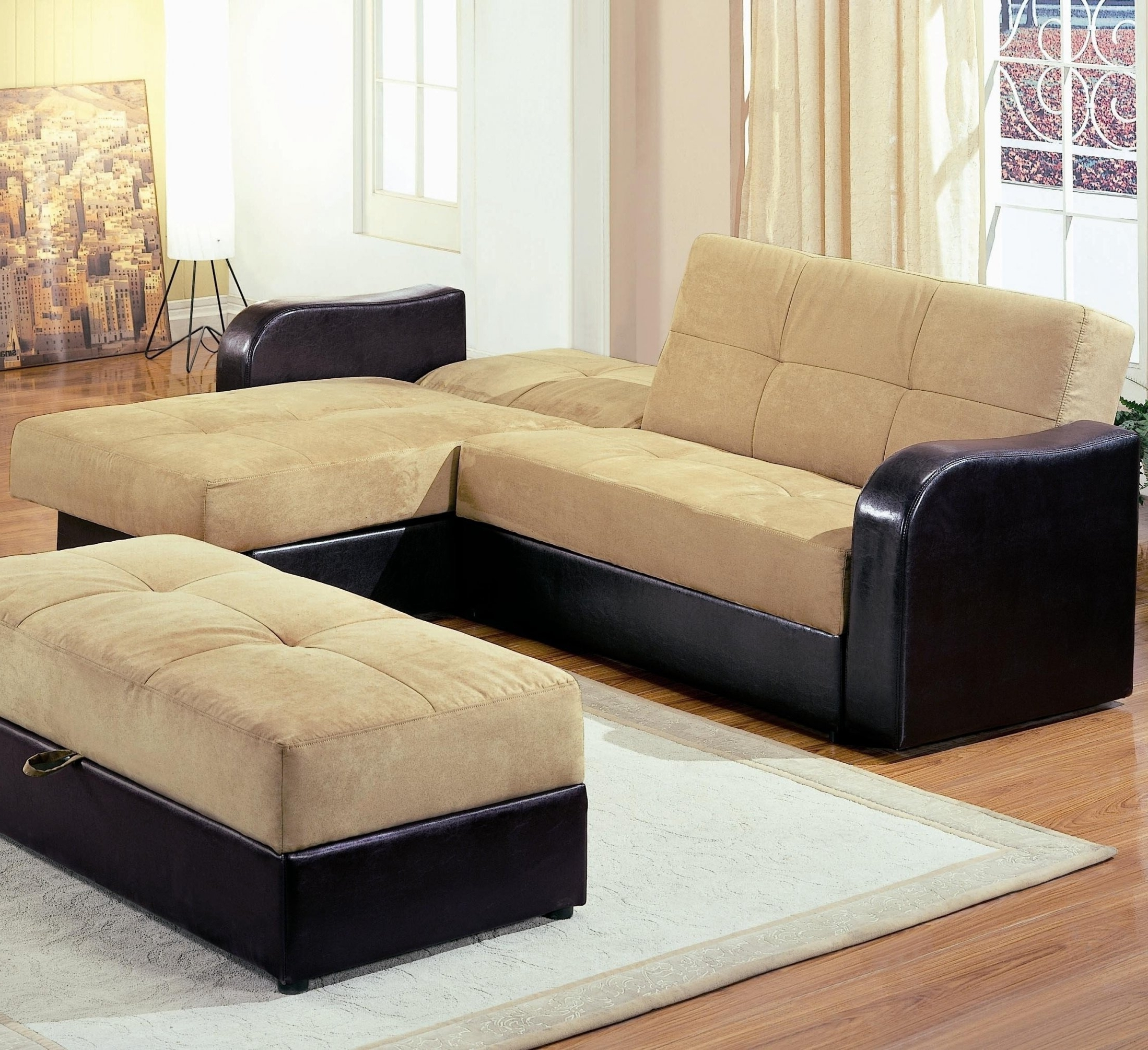 Sectional Sleeper Sofa With Ottoman With Regard To Well Liked Sectional Sleeper Sofas With Ottoman (View 13 of 20)
