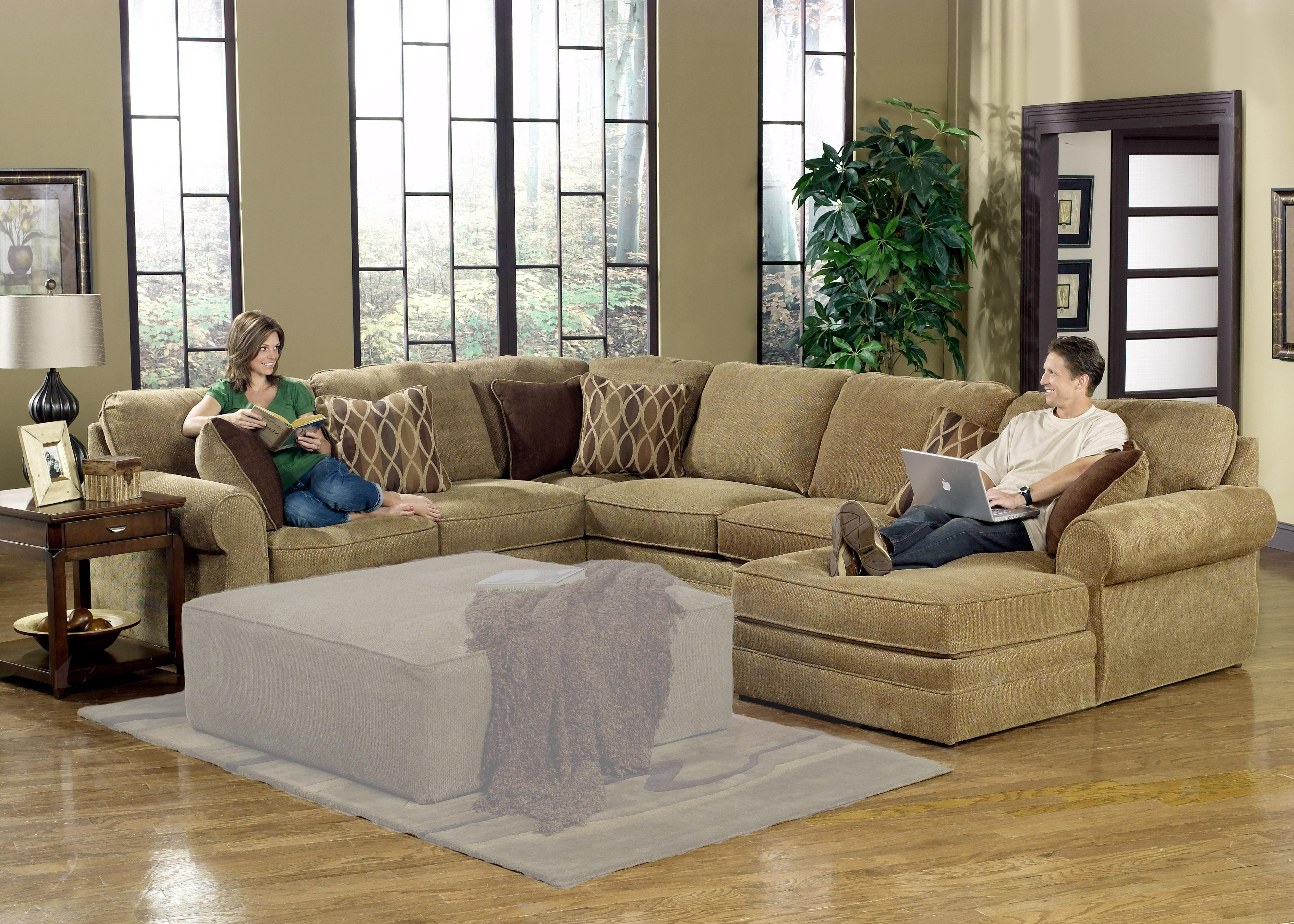 Sectional Sofa Design: Adorable Large U Shaped Sectional Sofa Best Inside Well Known Large Comfortable Sectional Sofas (View 15 of 20)