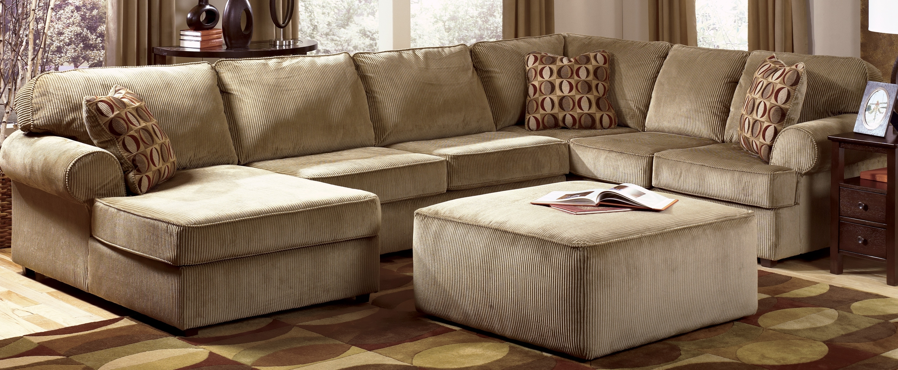 Sectional Sofa Design: Cheap Sofa Sectionals Brilliant Ideas Pertaining To Well Known Sectionals With Chaise And Ottoman (View 8 of 20)