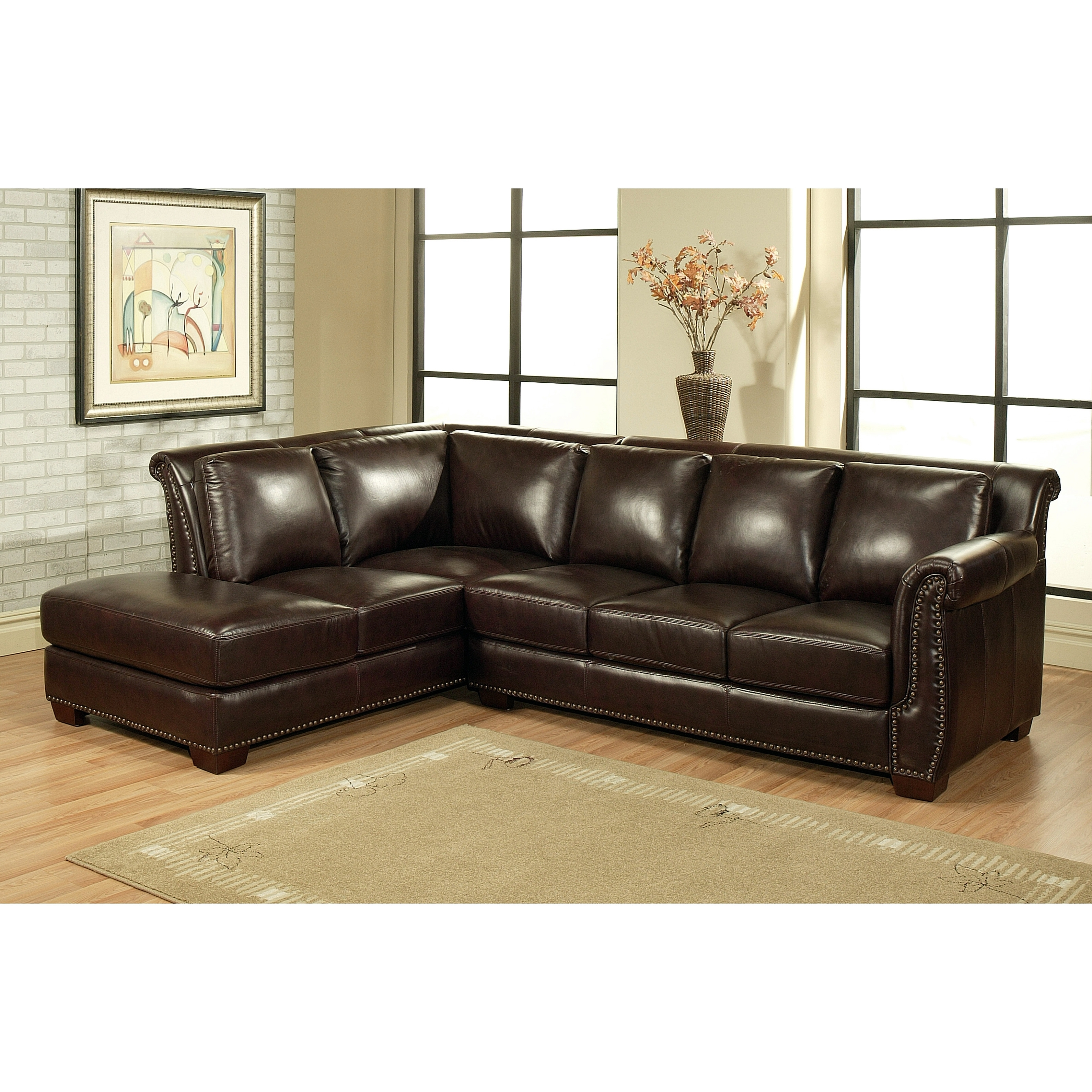 Sectional Sofa Design: Elegant Abbyson Sectional Sofa Abbyson Within Trendy Abbyson Sectional Sofas (View 6 of 20)