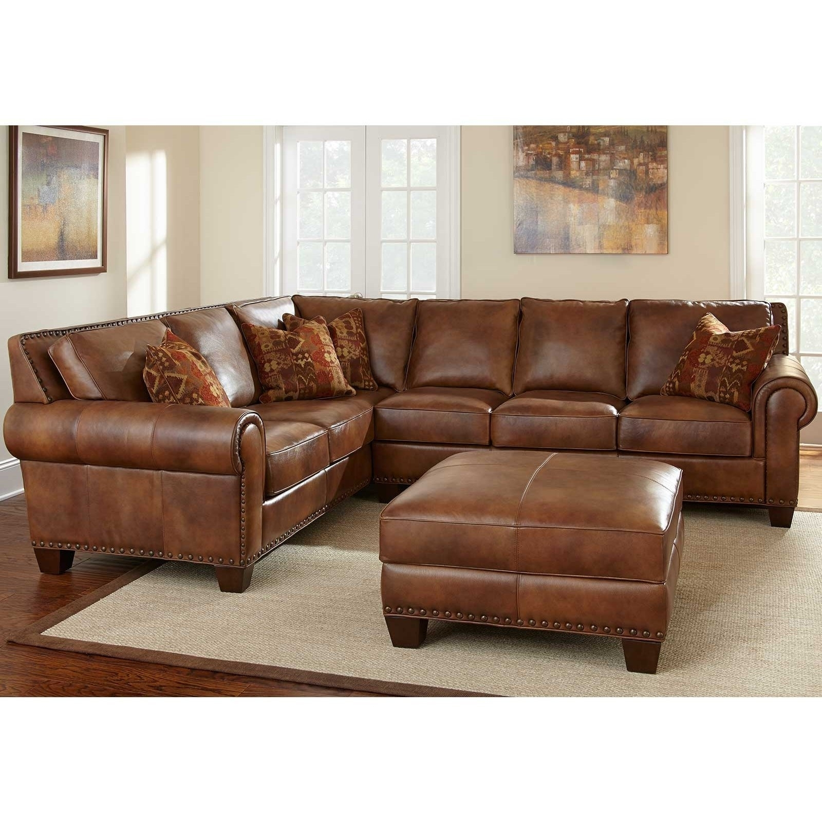 Sectional Sofa Design: Glamour Leather Sectional Sofas On Sale Within Current Sectional Sofas By Size (View 12 of 20)