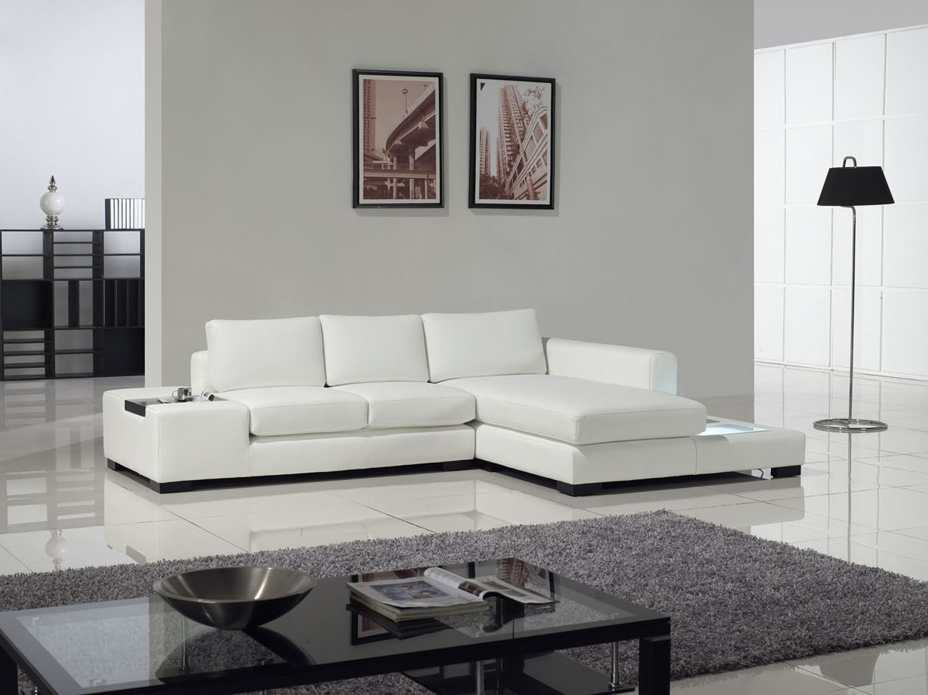Sectional Sofa Design: Top Rated White Modern Sectional Sofa In Well Liked White Modern Sofas (View 8 of 20)
