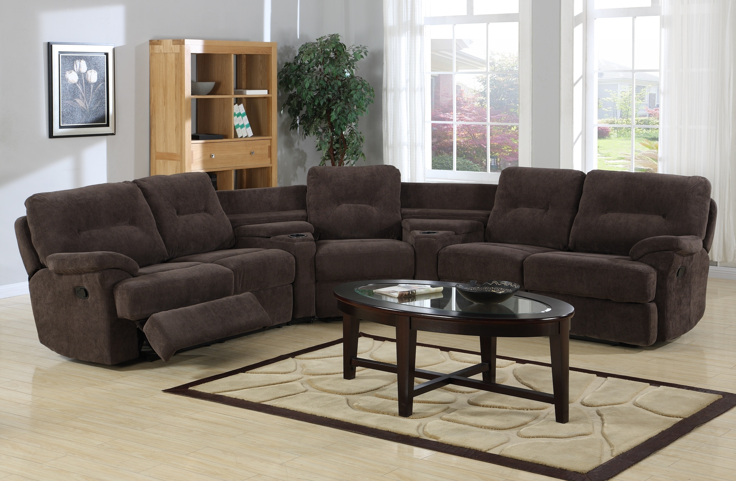 Sectional Sofa With Chaise Tags : Leather Sectional Sofa With Regarding Most Popular Curved Recliner Sofas (View 5 of 20)