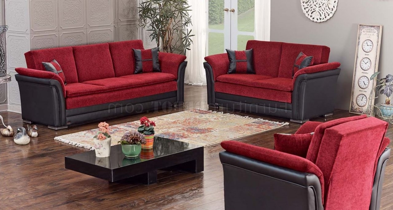 Sectional Sofas At Austin Regarding Preferred Austin Sofa Bed Convertible In Red & Blackempire W/options (View 11 of 20)