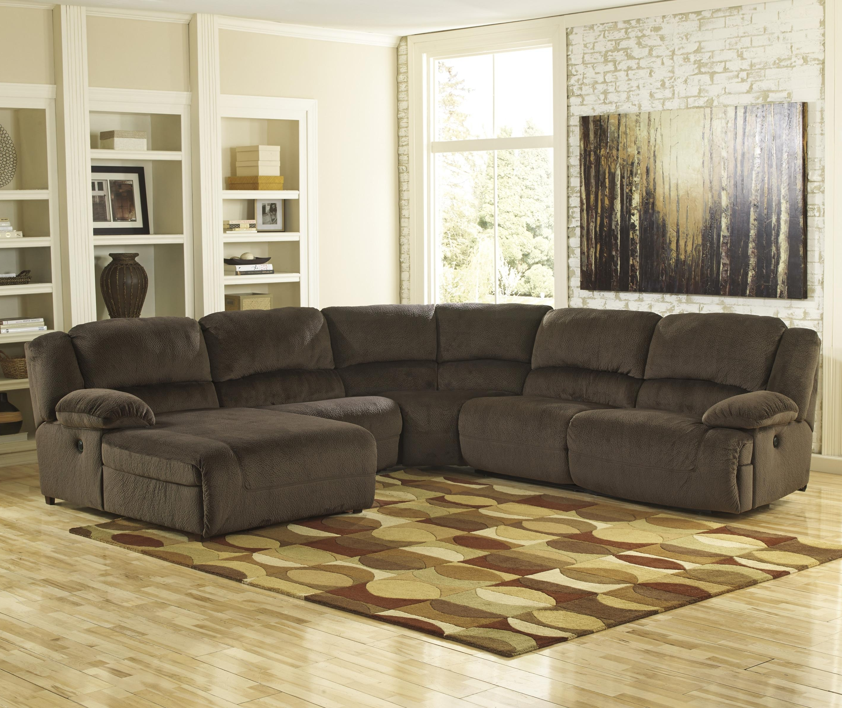 Sectional Sofas At Birmingham Al With Regard To 2018 Toletta – Chocolate Power Reclining Sectional With Chaise (View 15 of 20)