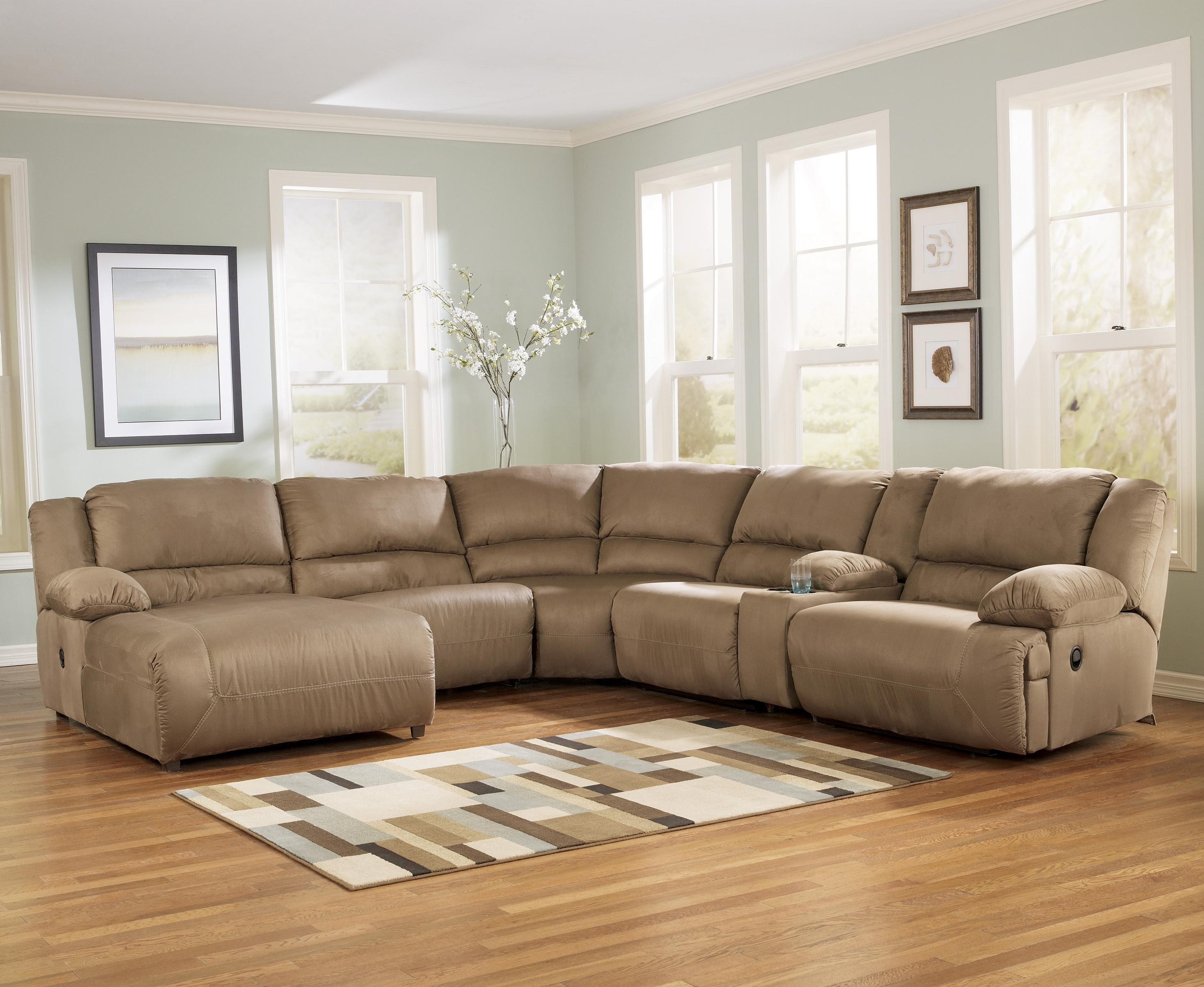 Sectional Sofas At Birmingham Al Within Well Liked Signature Designashley Hogan – Mocha 6 Piece Motion Sectional (View 16 of 20)