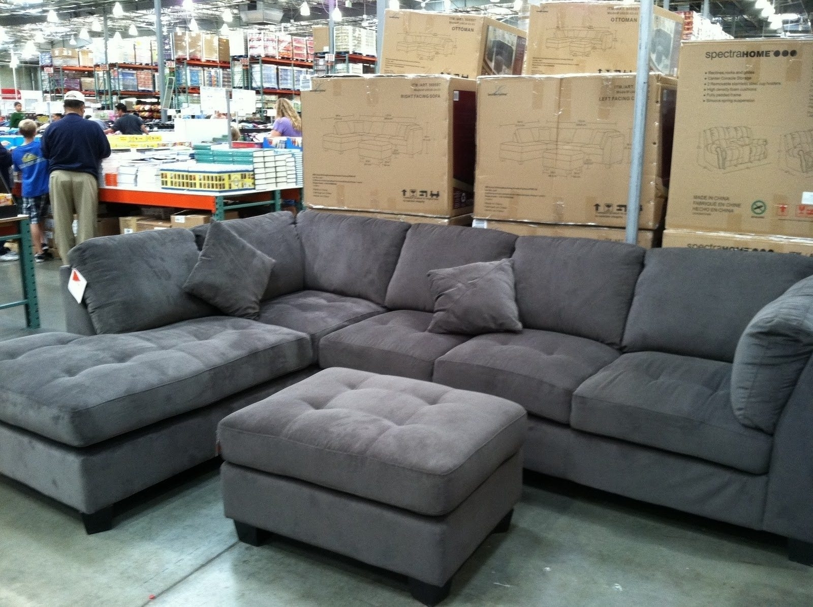 Sectional Sofas At Costco With Regard To Favorite Gray Sectional Sofa Costco – Hotelsbacau (View 8 of 20)
