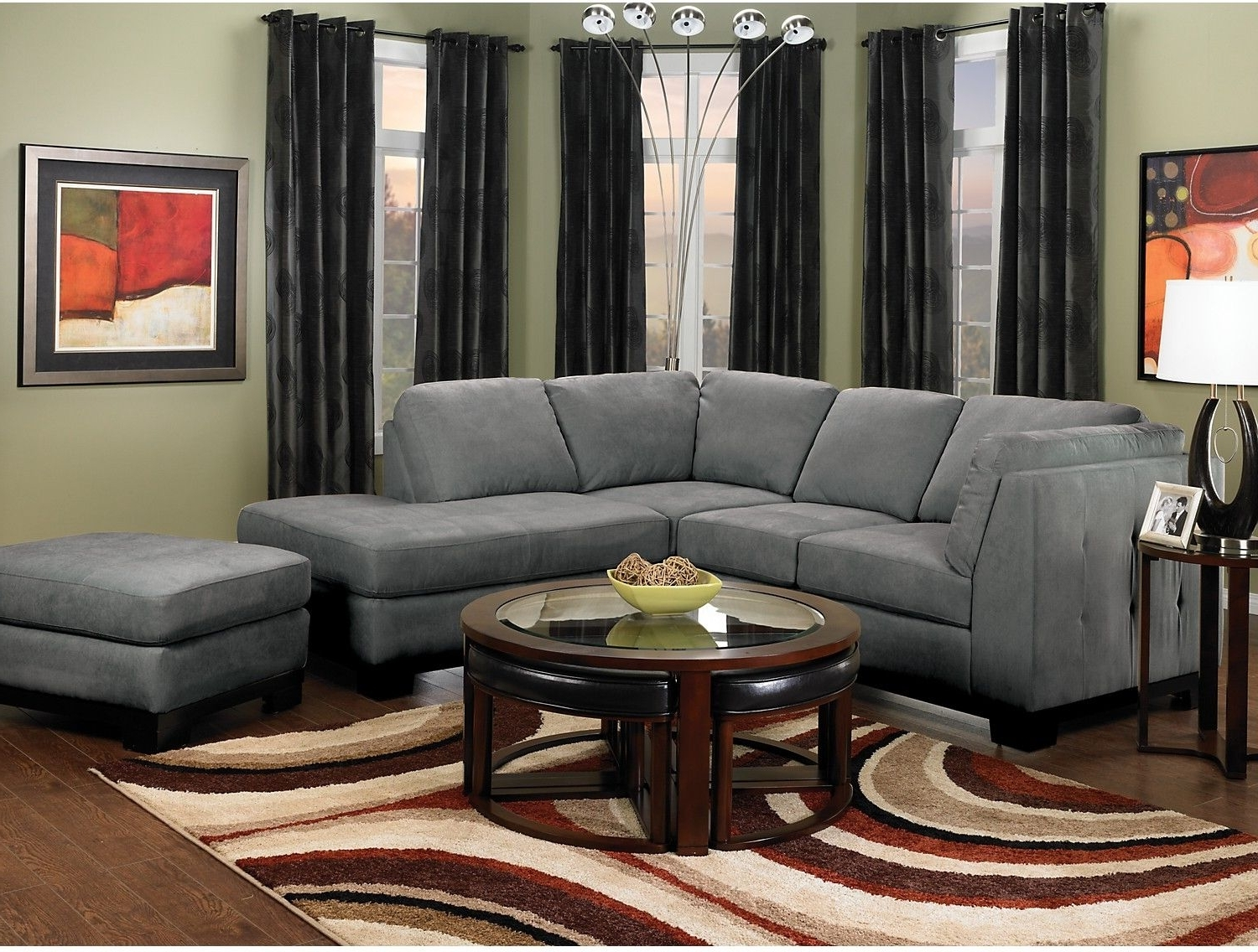 Sectional Sofas At The Brick Intended For Well Known Oakdale 2 Piece Microsuede Sectional W/right Facing Chaise – Grey (View 15 of 20)