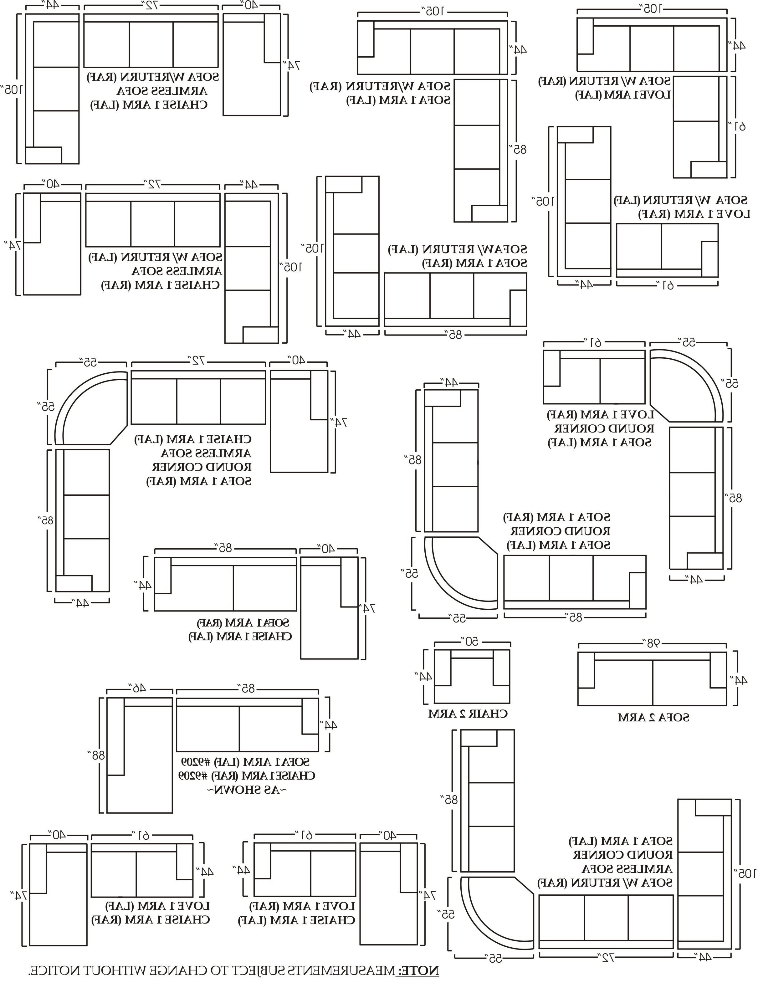 Sectional Sofas By Size Regarding Most Recent Sectional Sofa Design: Sectional Sofa Dimensions Standard England (View 9 of 20)