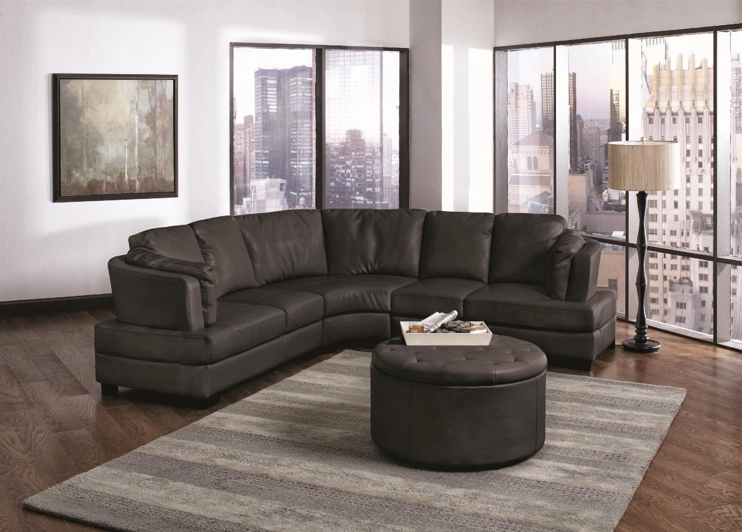 Sectional Sofas Decorating Pertaining To Best And Newest Ideas For Decorate With A Curved Sectional Sofa — Cabinets, Beds (View 12 of 20)