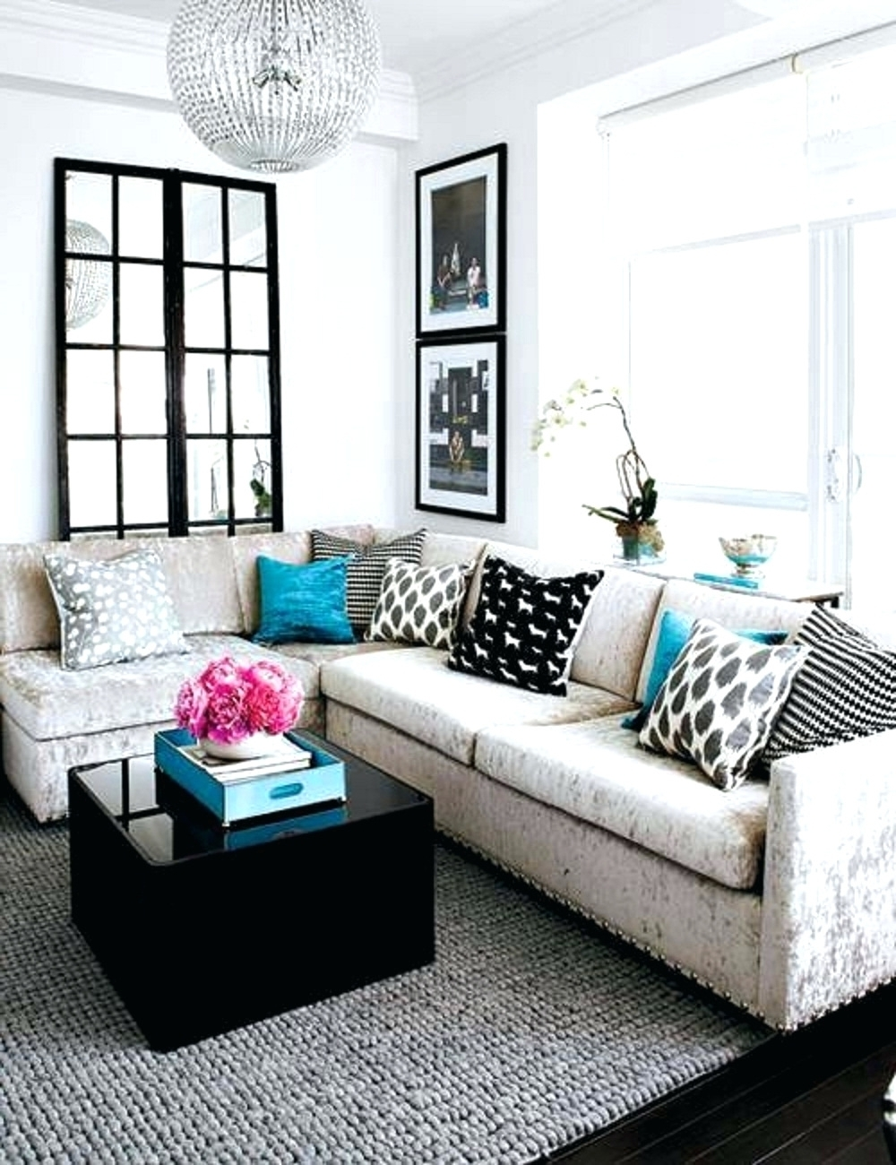 Sectional Sofas Decorating Within Current Decorations : Small Sectional Sofa Decorating Ideas Black (View 15 of 20)