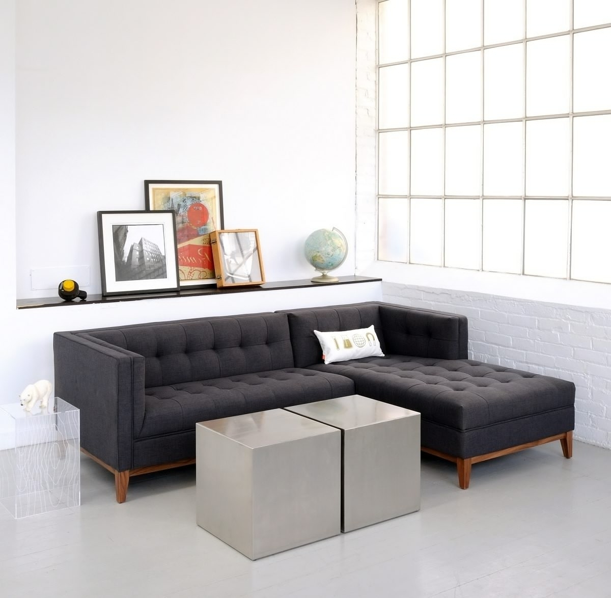 Sectional Sofas For Condos Intended For Fashionable Sectional Sofa Design: Apartment Size Sectional Sofa Bed Chaise (Gallery 9 of 20)