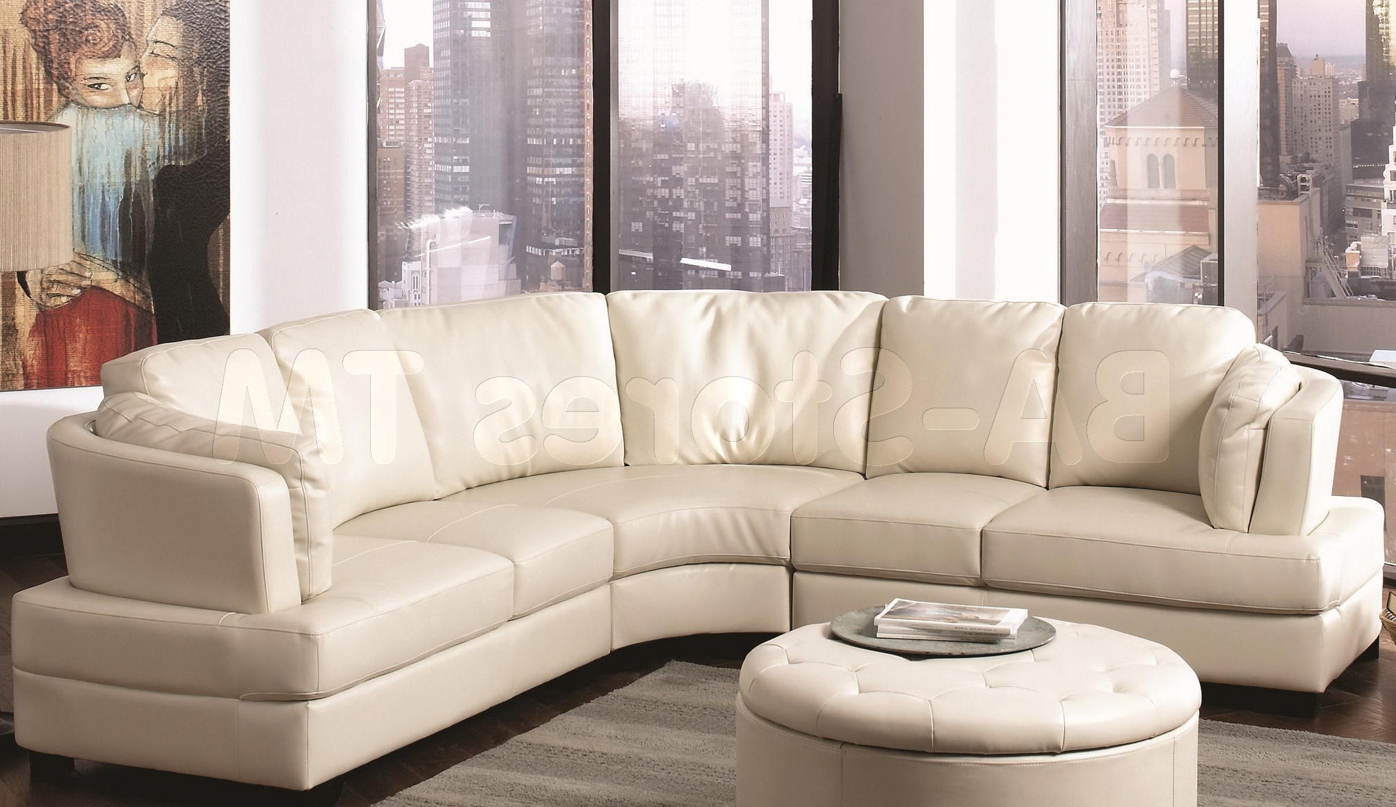 Picture of: View Photos Of Curved Sectional Sofas With Recliner Showing 15 Of 20 Photos
