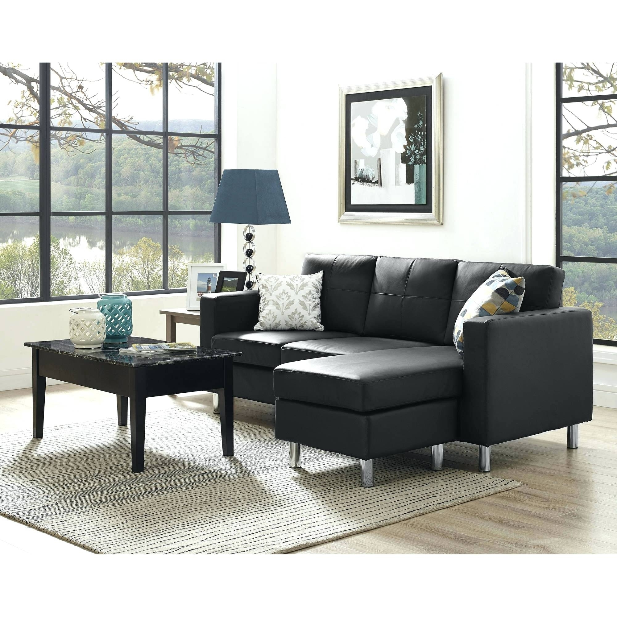 Sectional Sofas For Small Spaces With Recliners With Regard To Most Up To Date Leather Sectional Sofas Sawonderful Sa Contemporary For Small (View 15 of 20)