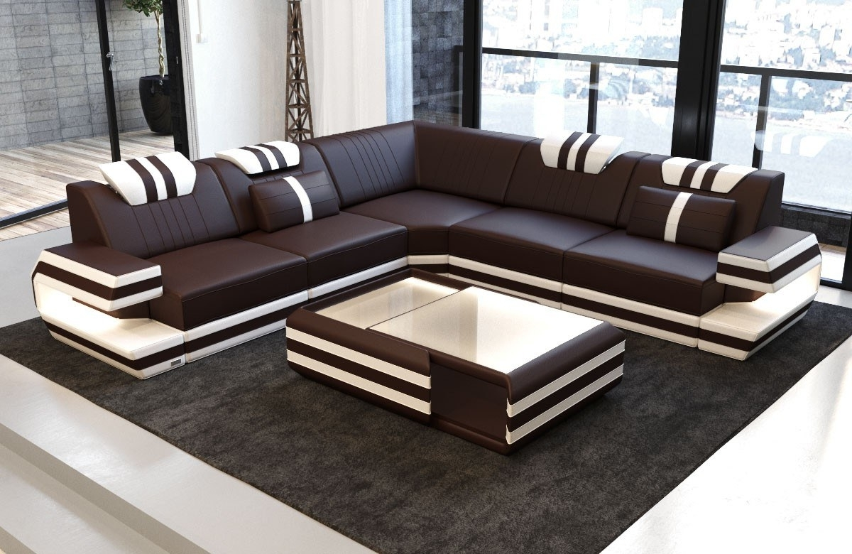 Sectional Sofas In San Antonio For Famous Antonio L Shape Sofa With Led Lights (View 15 of 20)