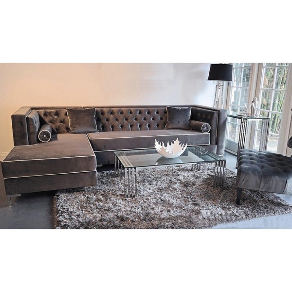 Sectional Sofas: Sofas Center Astonishing Grey Velvet Sectional Throughout Popular Velvet Sectional Sofas (View 12 of 20)