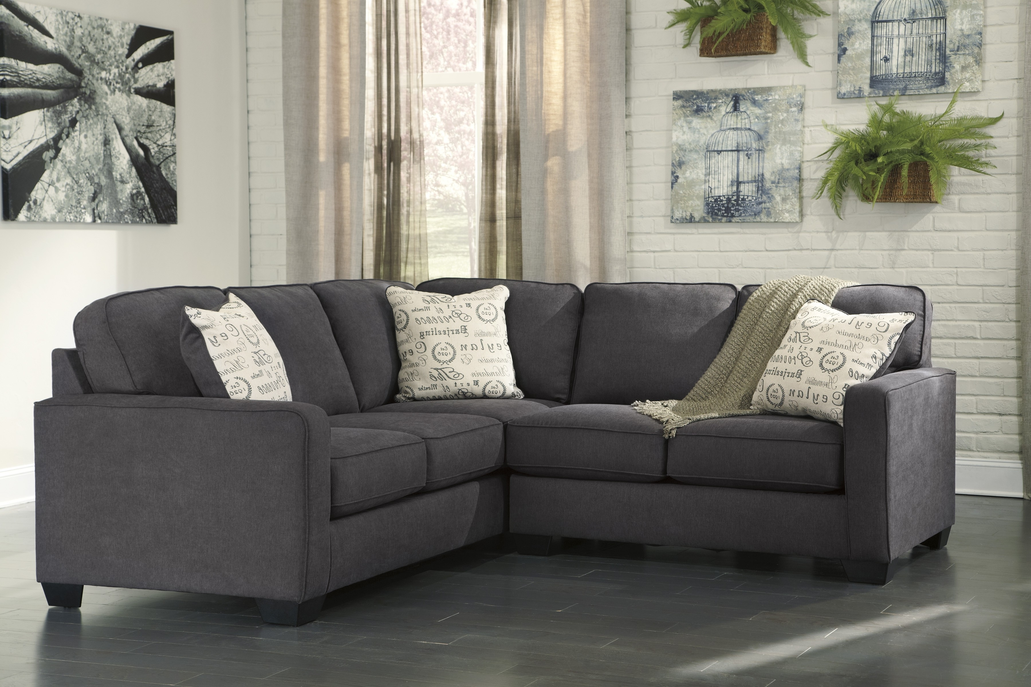 Sectional Sofas That Come In Pieces With Regard To Most Popular Alenya Charcoal 2 Piece Sectional Sofa For $ (View 9 of 20)
