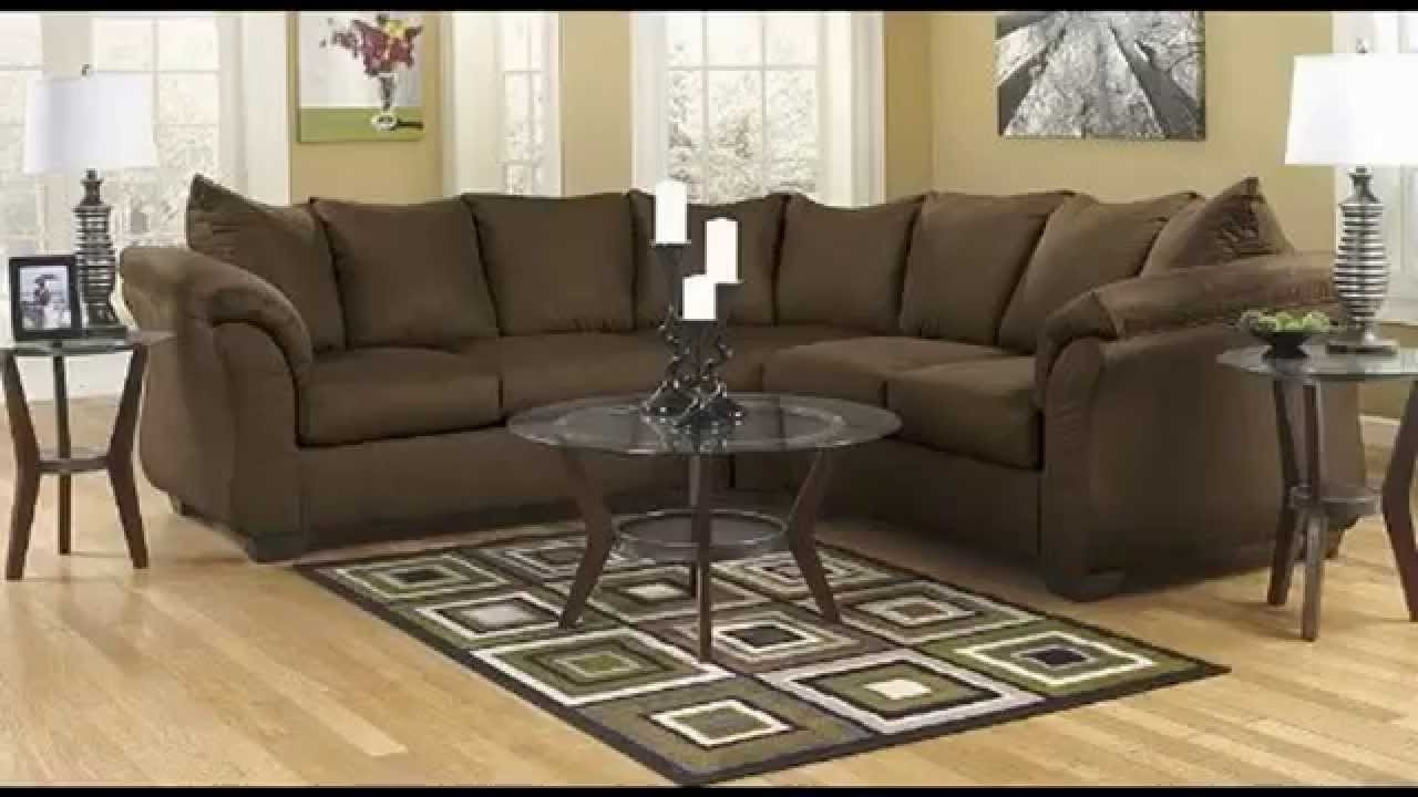 Sectional Sofas Under 900 Inside Fashionable Sectional Sofa, Pillow Back Cushions Cafe Fabric – Youtube (View 15 of 20)
