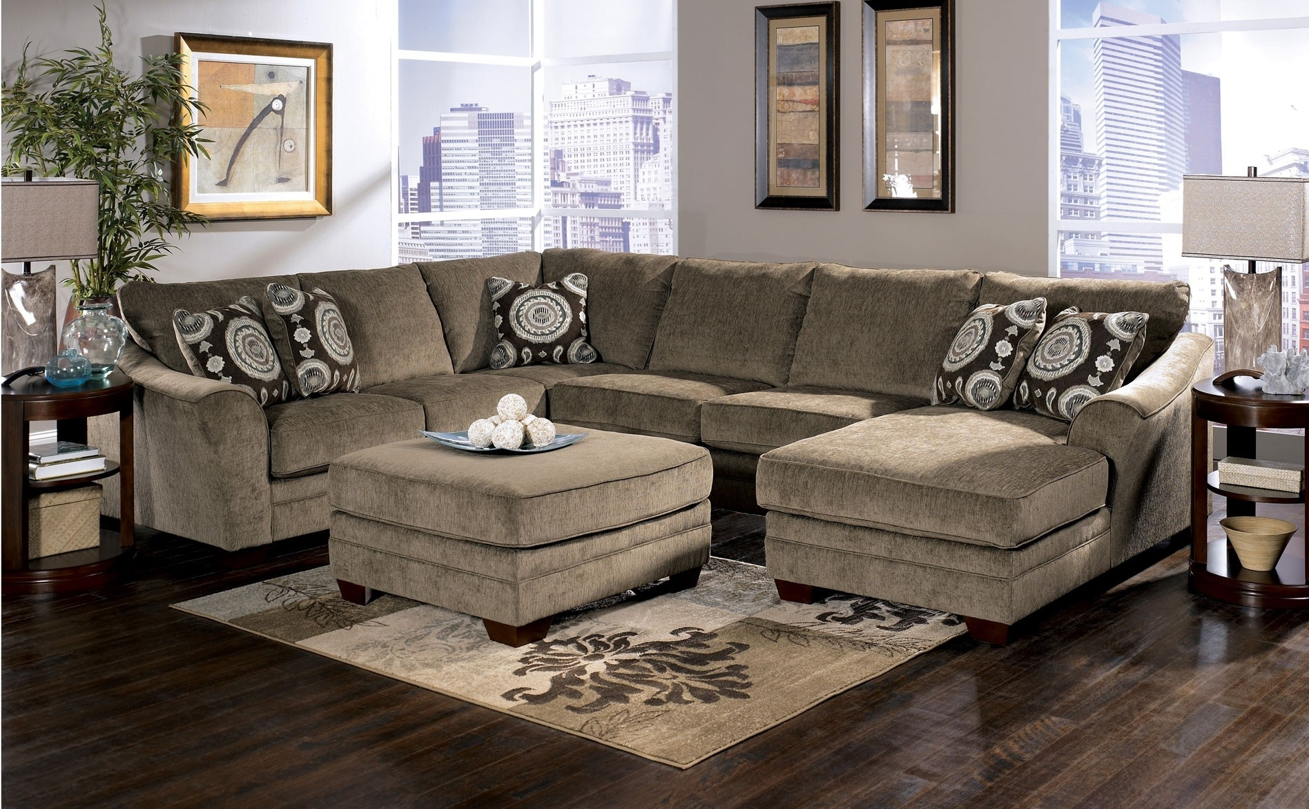 Sectional Sofas With Chaise Lounge And Ottoman With Latest Best Black Fabric Sectional Sofas Images – Liltigertoo (View 17 of 20)