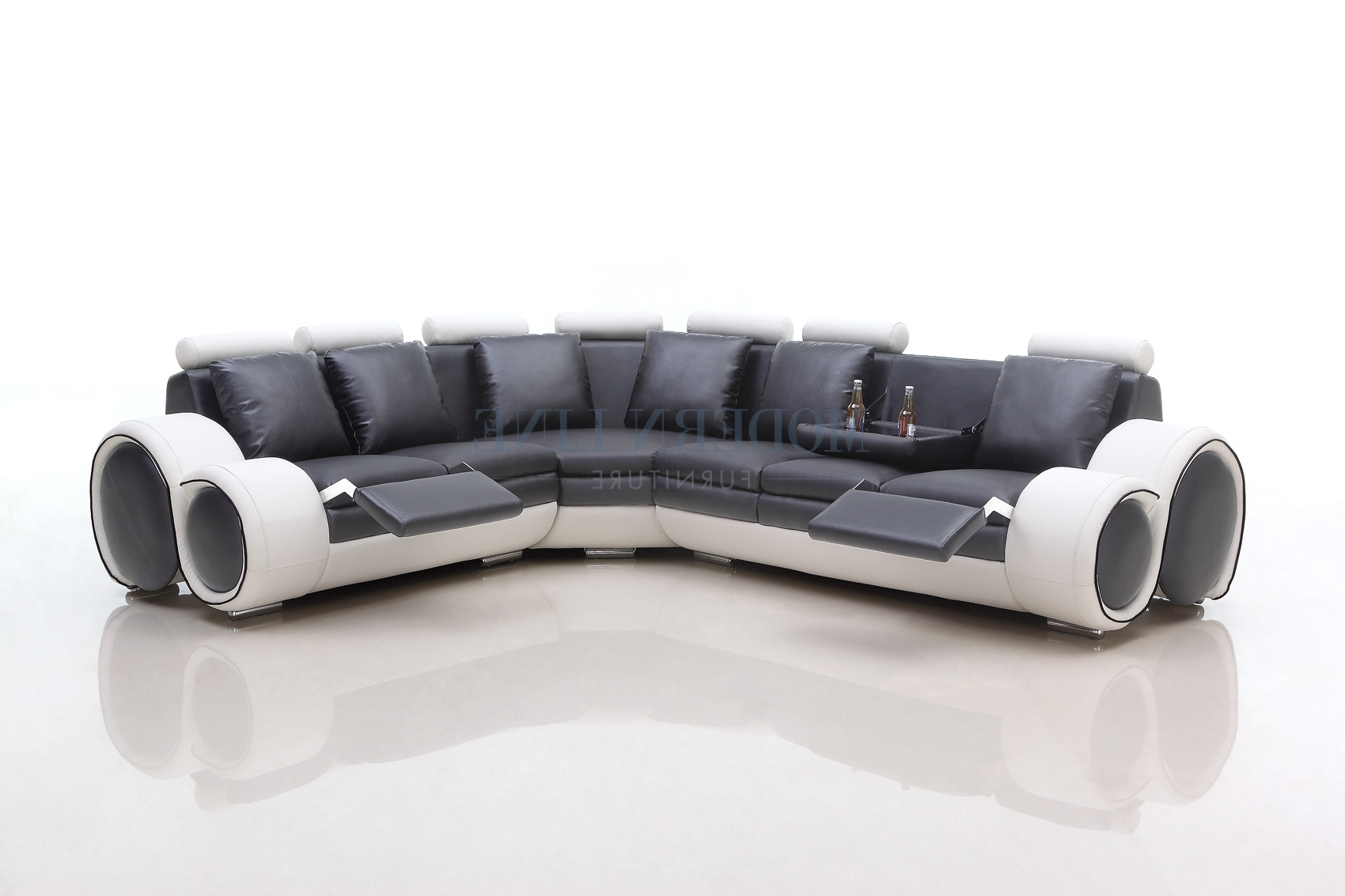 Picture of: View Photos Of Sectional Sofas With Consoles Showing 11 Of 20 Photos