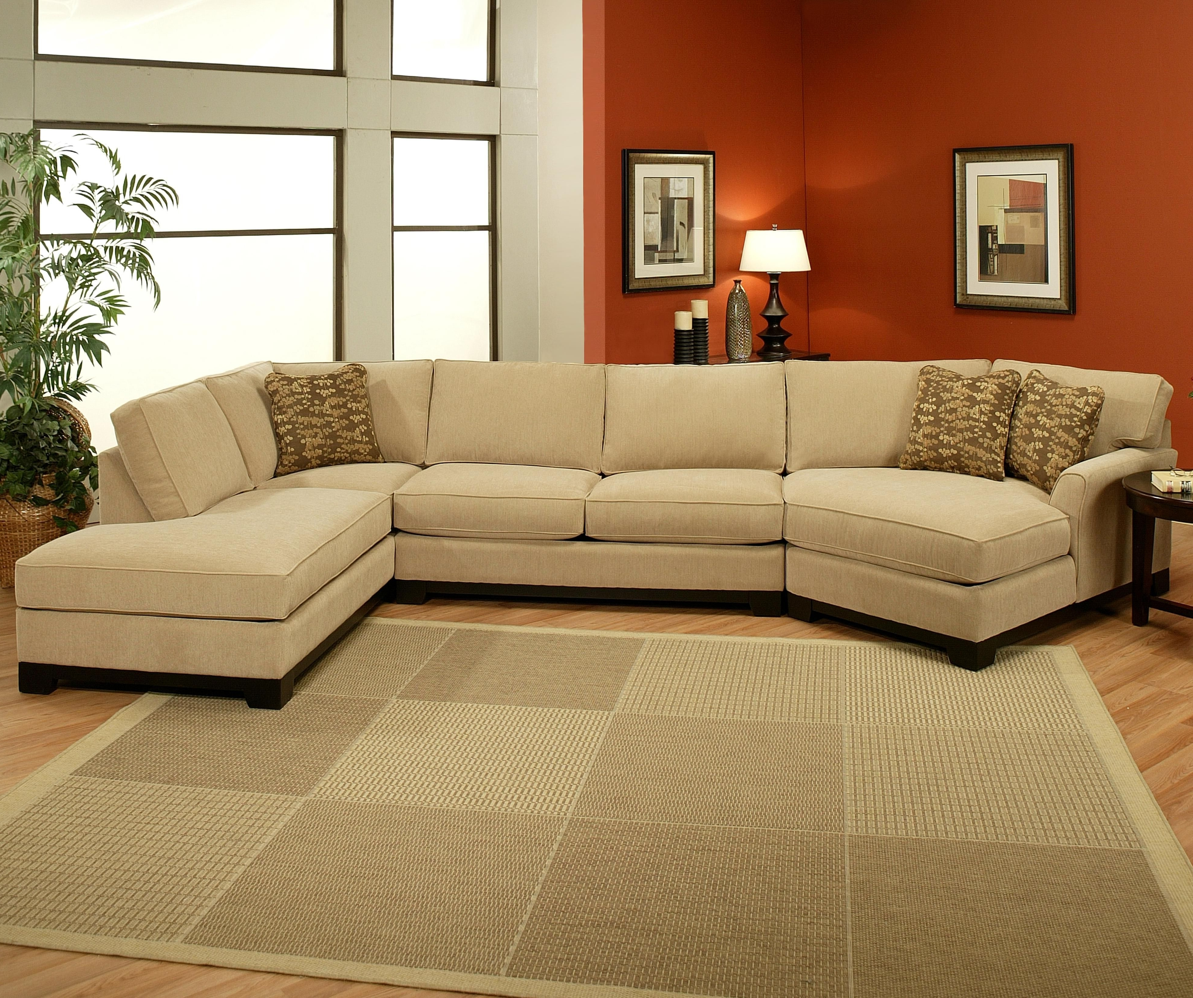 Sectional Sofas With Cuddler Chaise Throughout Well Liked Sagittarius 3 Pc (View 14 of 20)