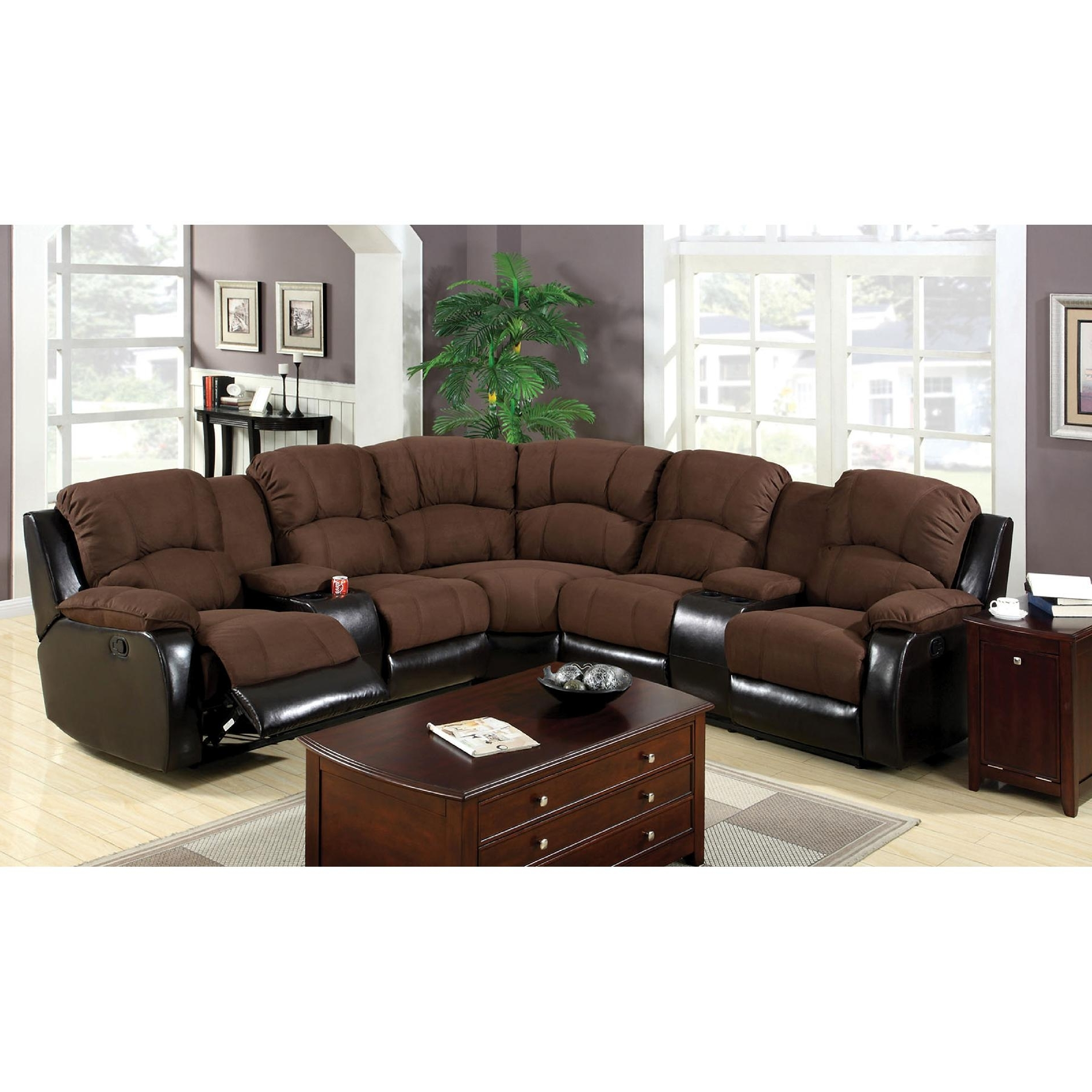 Sectional Sofas With Cup Holders Inside 2018 Sectional Sofas With Recliners And Cup Holders – Fjellkjeden (View 11 of 20)