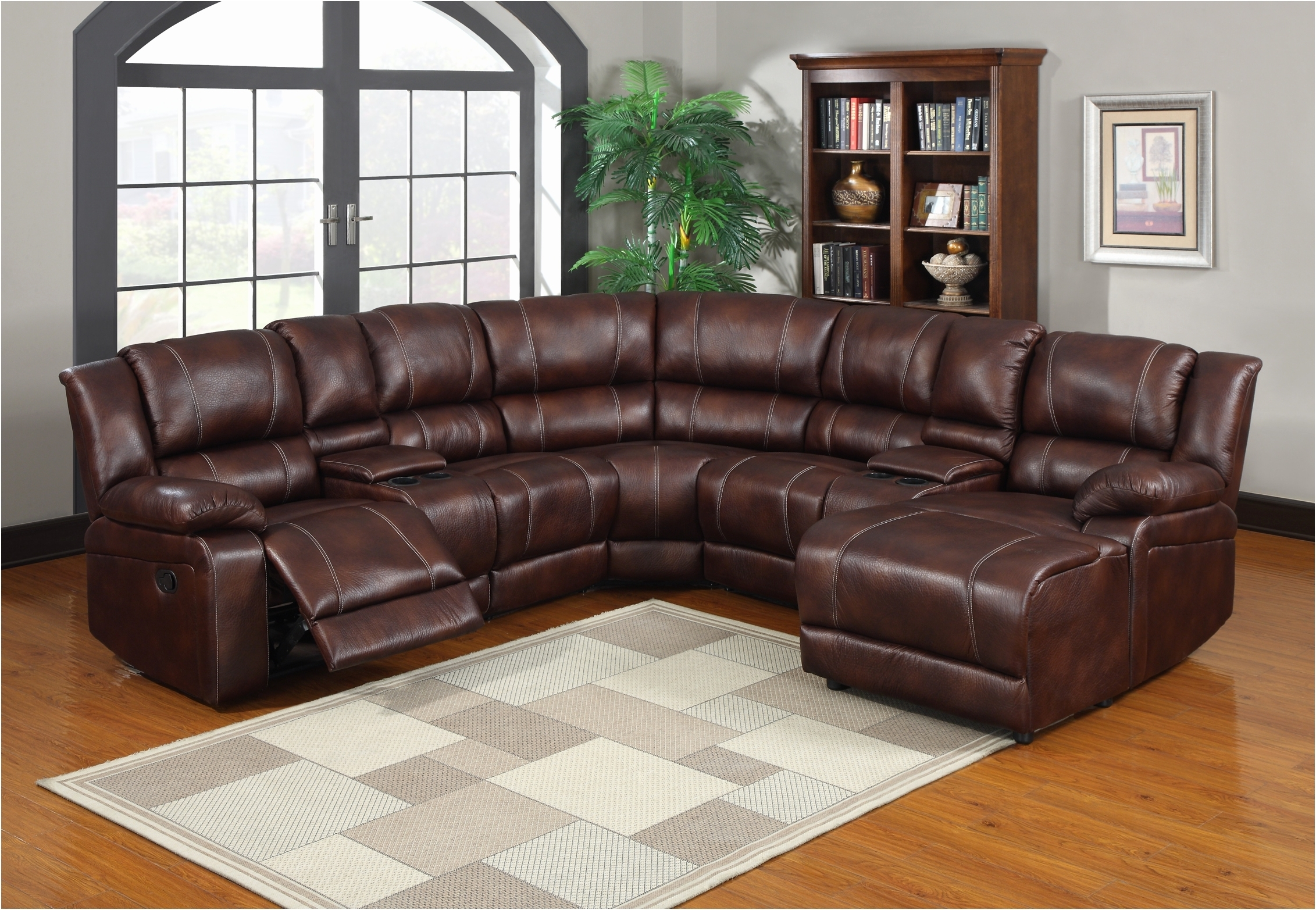 Sectional Sofas With Cup Holders With Regard To Fashionable Sofa : Leather Sectional Sofas With Recliners Fresh Sectional (View 13 of 20)