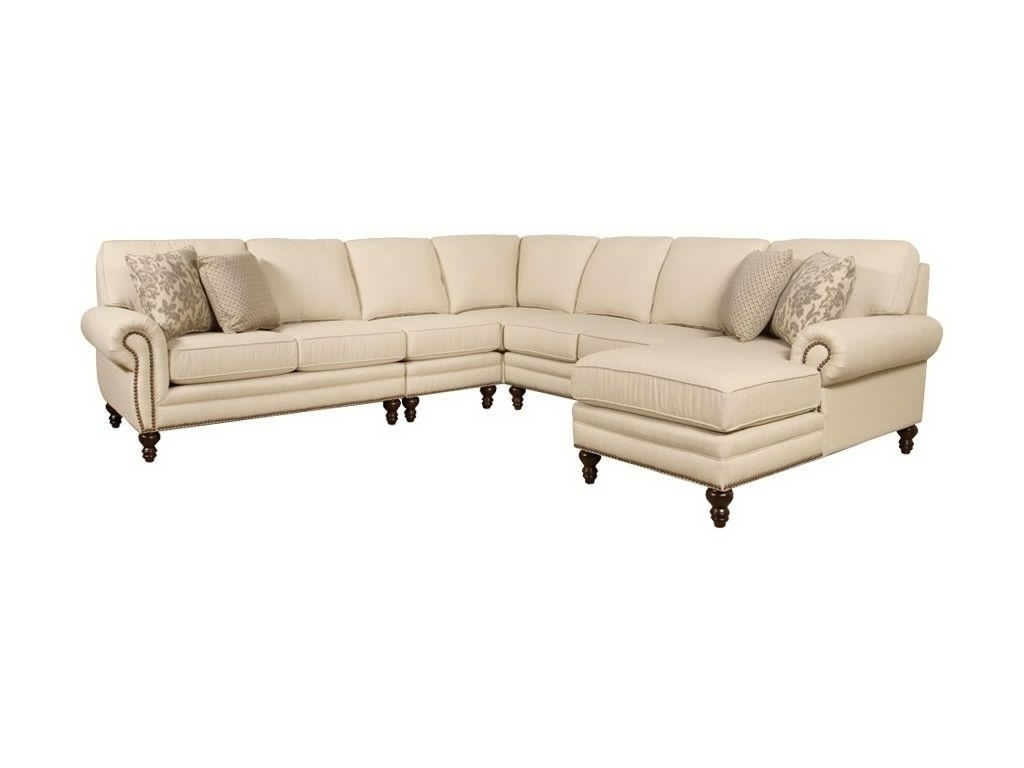 Sectional Sofas With Nailheads In Well Known Sectional Sofa Design: Nailhead Sectional Sofa Fabric Leather (View 6 of 20)