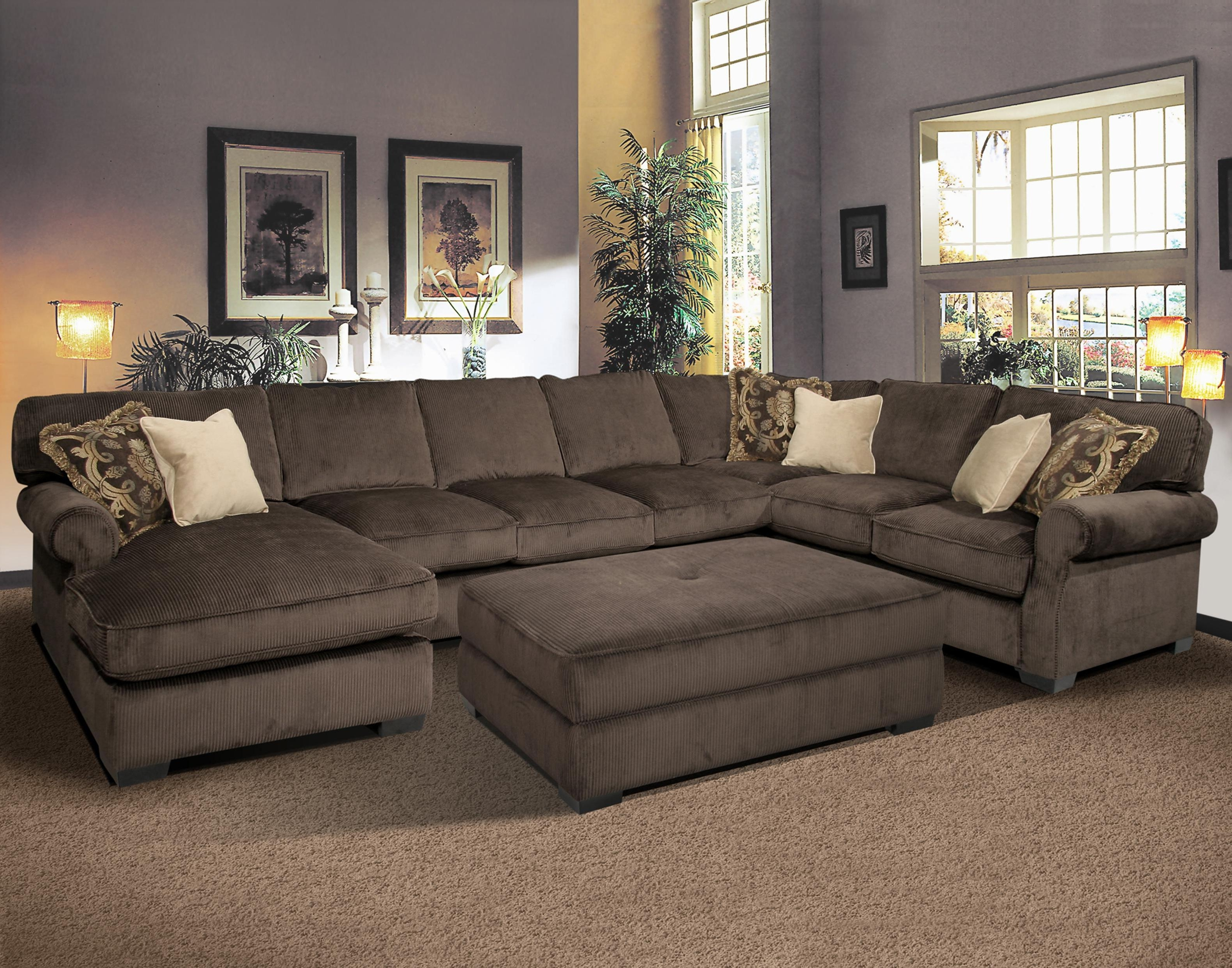 Sectional Sofas With Ottoman Pertaining To Current Furniture : Sectional Sofa With Recliner And Ottoman Grand Island (View 7 of 20)