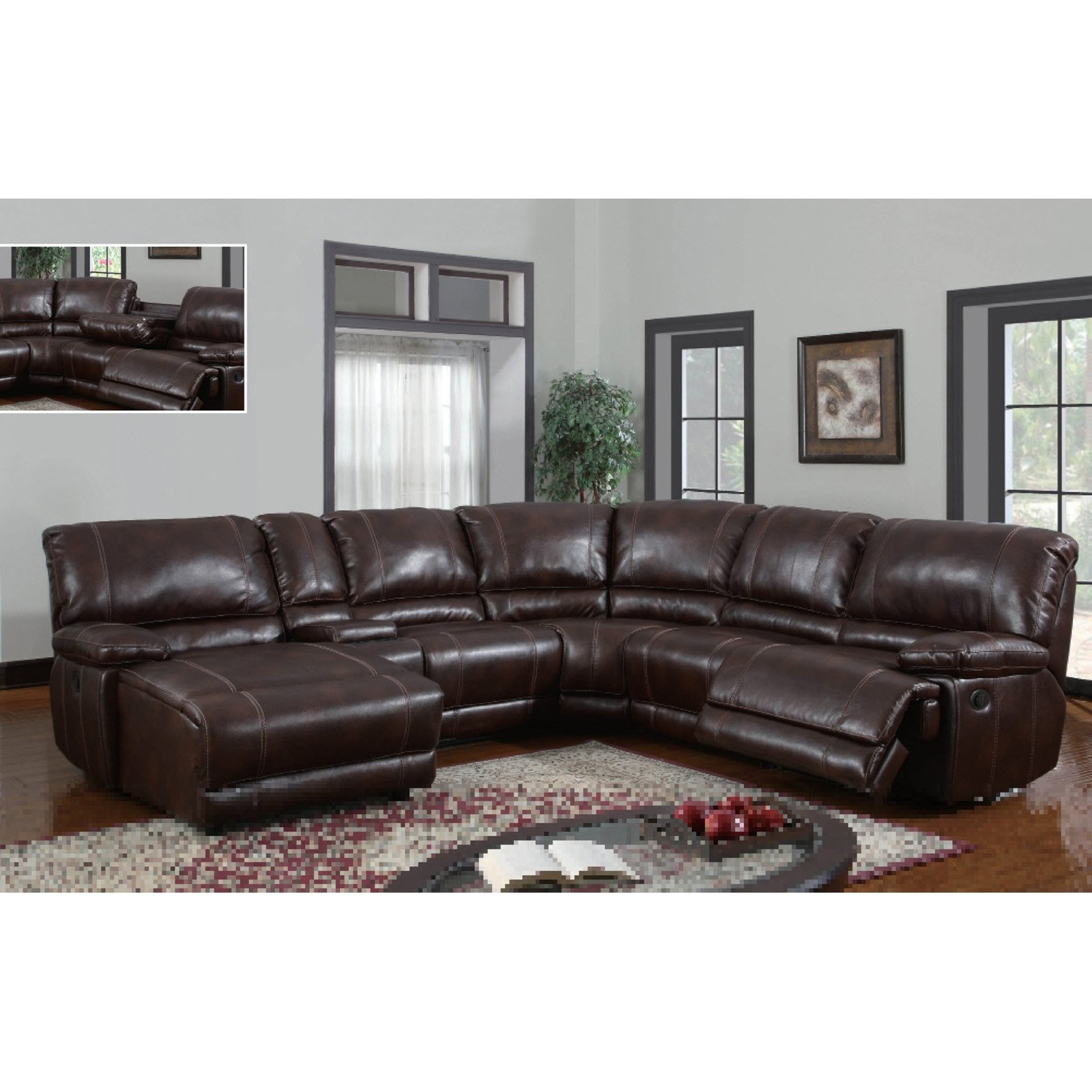 Sectional Sofas With Power Recliners With Regard To 2018 Leather Sectional Sofa With Power Recliner 11 With Leather (View 15 of 20)