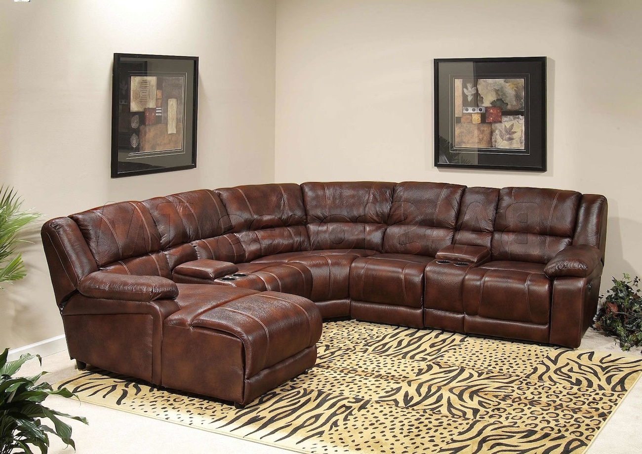 Sectional Sofas With Recliners Leather For Most Up To Date Leather Chaise Couch Sectional With Recliner – Campsis Right (View 8 of 20)