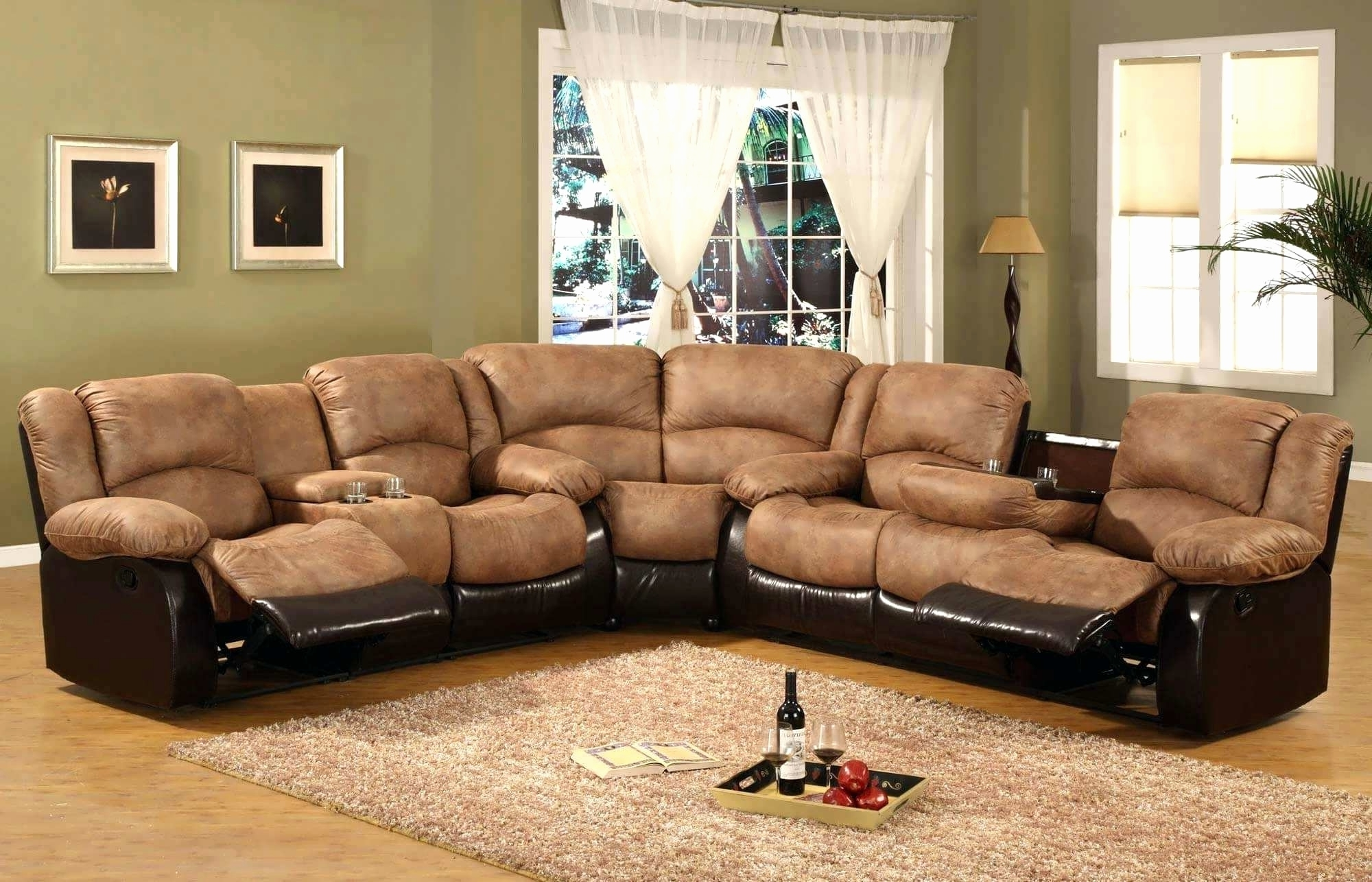 Sectional Sofas With Recliners Leather With Regard To 2018 Lovely Microfiber Sectional Sofa With Chaise And Recliner (View 16 of 20)