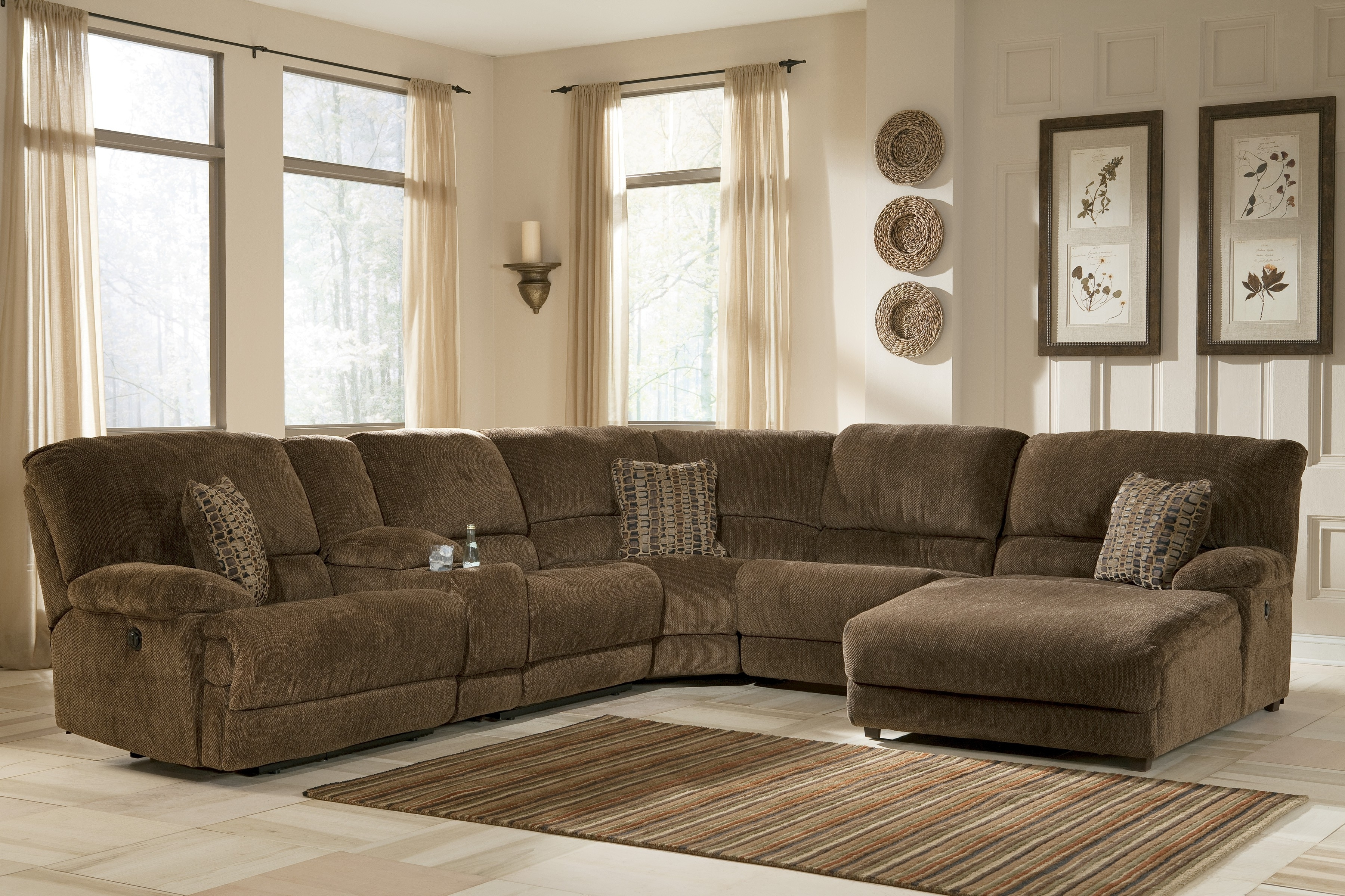 Sectional Sofas With Recliners With Regard To Recent Lazy Boy Sleeper Recliners Fabric Reclining Loveseat Full Layout (View 19 of 20)
