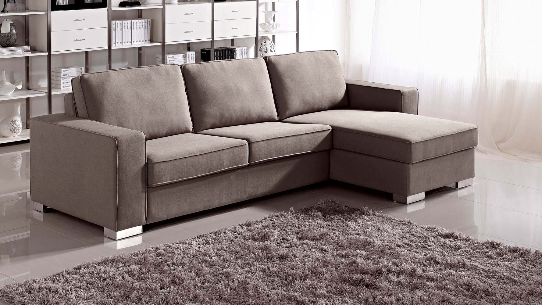 Sectional Sofas With Sleeper Intended For Most Current Sofa : Black Leather Sleeper Sofa Queen Leather Sofa With Queen (View 9 of 20)