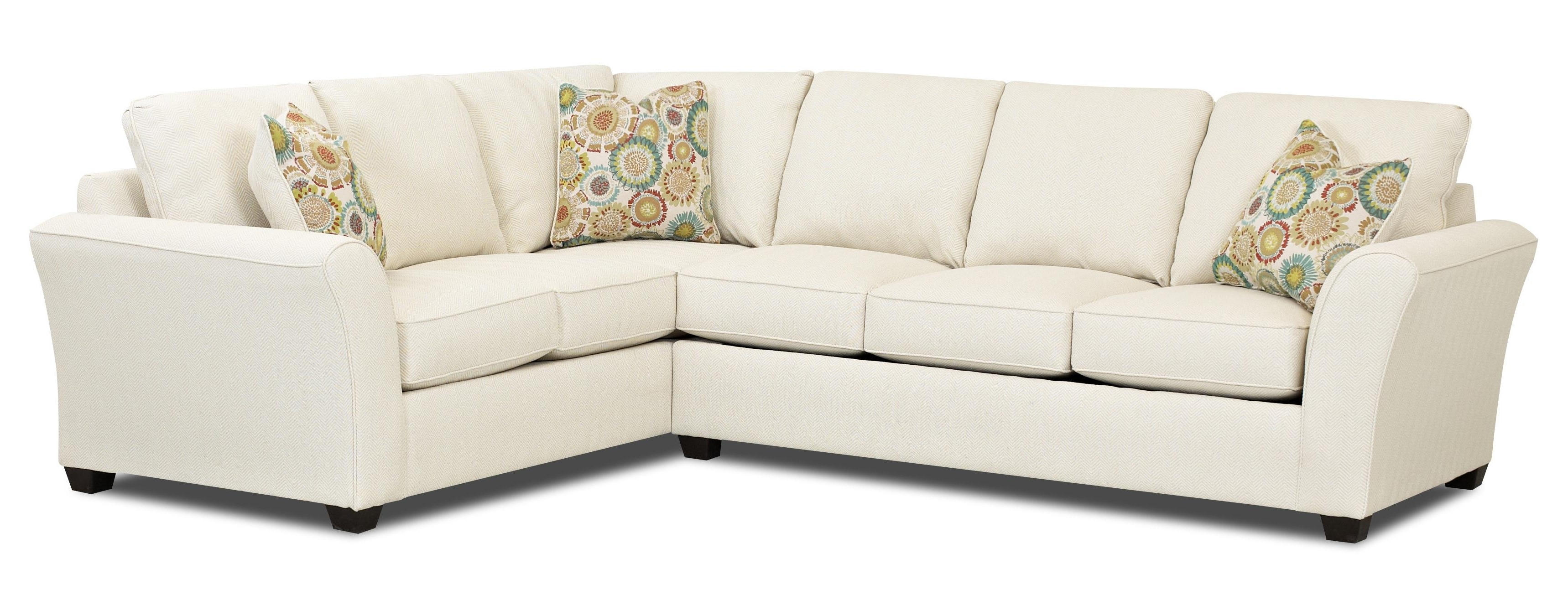 Sectional Sofas With Sleeper Regarding Current Transitional Sectional Sleeper Sofa With Dreamquest Mattress (View 10 of 20)