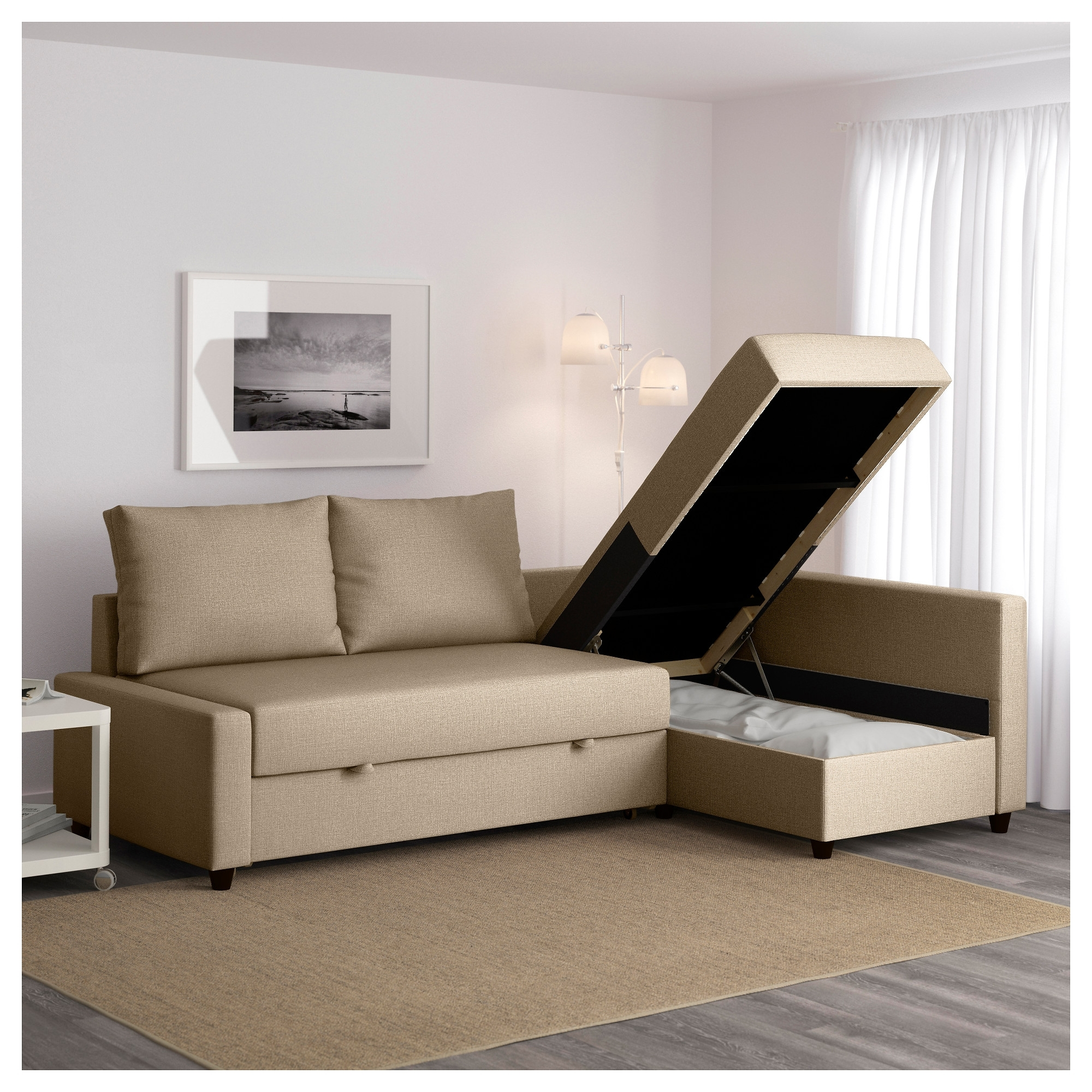 Sectional Sofas With Storage In Newest Friheten Sleeper Sectional,3 Seat W/storage – Skiftebo Dark Gray (View 8 of 20)