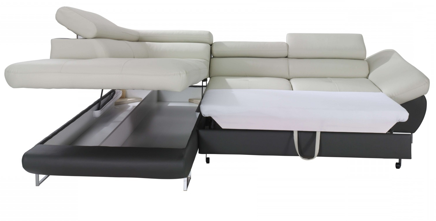 Sectional Sofas With Storage Pertaining To Most Up To Date Fabio Sectional Sofa Sleeper With Storage (View 14 of 20)