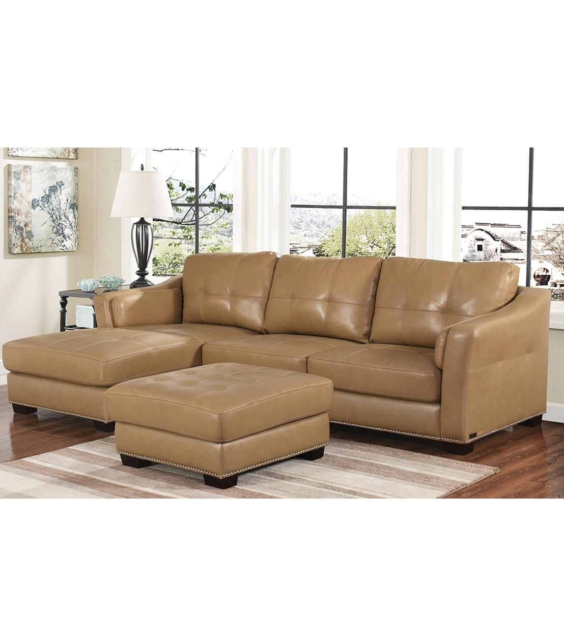 Sectionals : Chelsie Leather Sectional For Preferred Abbyson Sectional Sofas (View 9 of 20)