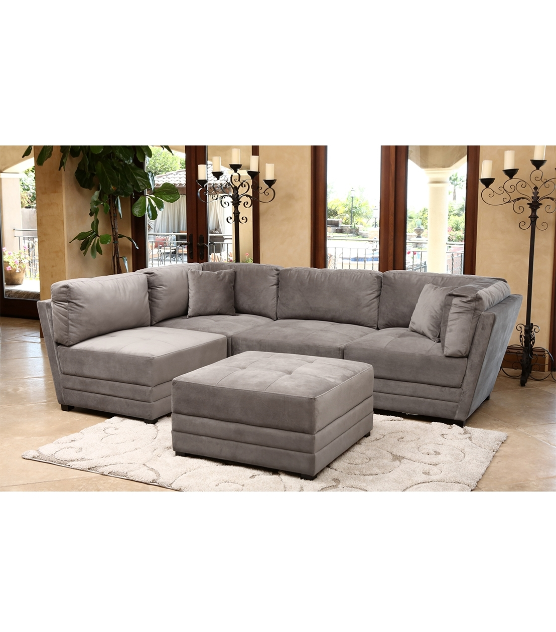 Sectionals : Leyla Sectional, Taupe In Most Recently Released Abbyson Sectional Sofas (View 5 of 20)