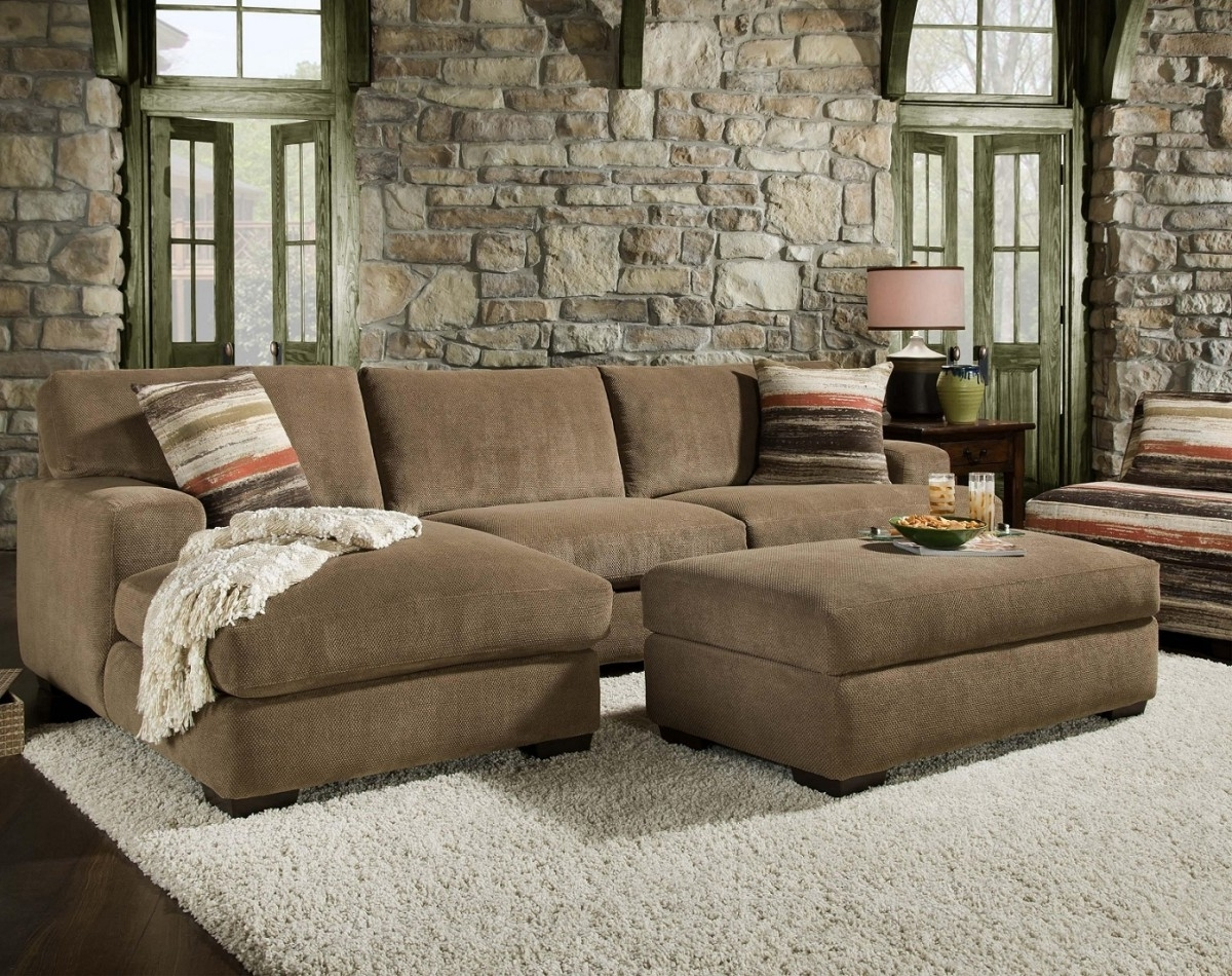 Sectionals With Chaise And Ottoman Pertaining To Recent Sofa : Sofas & Sectionals Comfy Sectionals For Small Spaces Tiny (View 14 of 20)